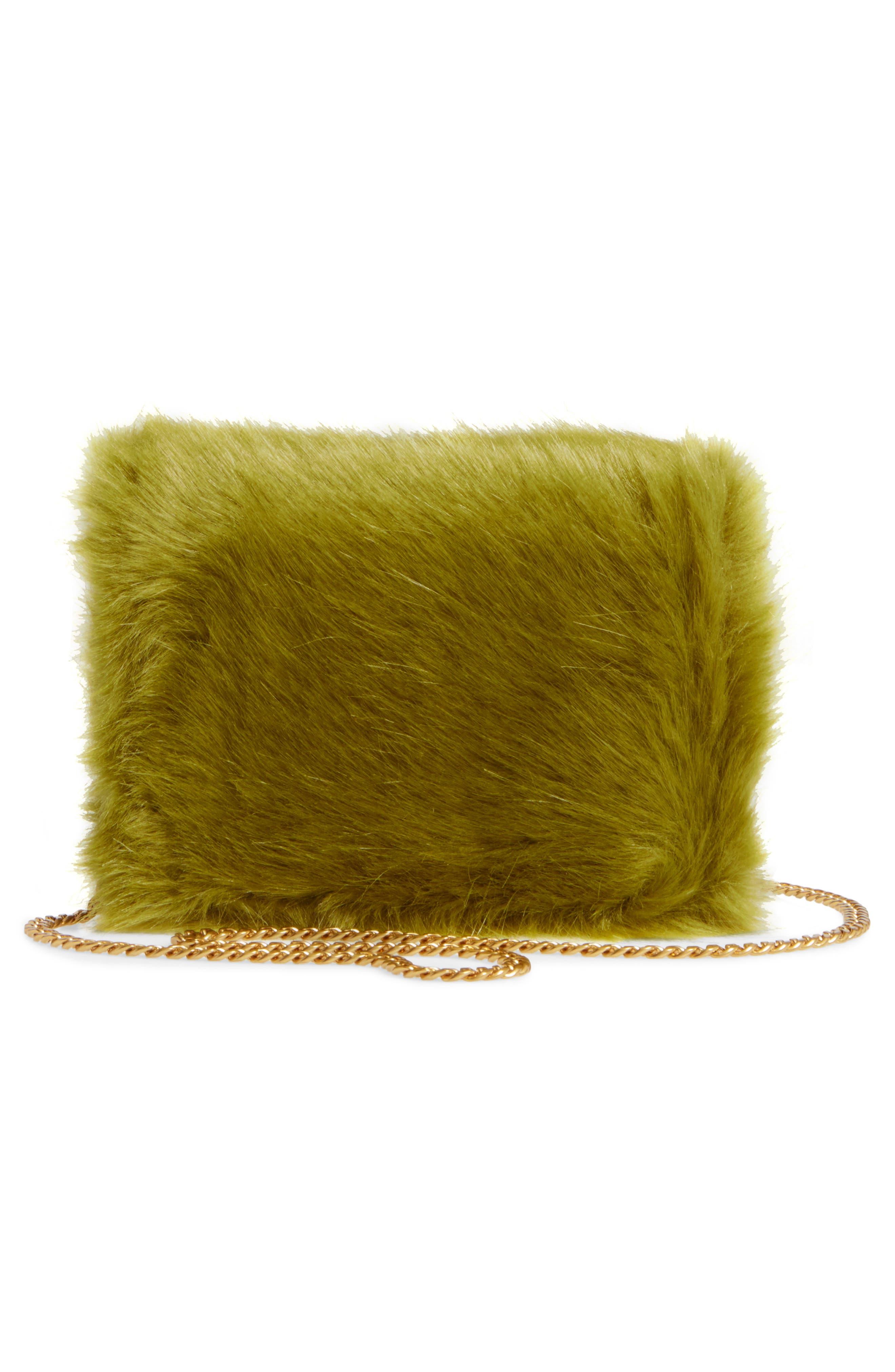 Mini Chelsea Faux Fur Convertible Crossbody Bag,                             Alternate thumbnail 3, color,                             320