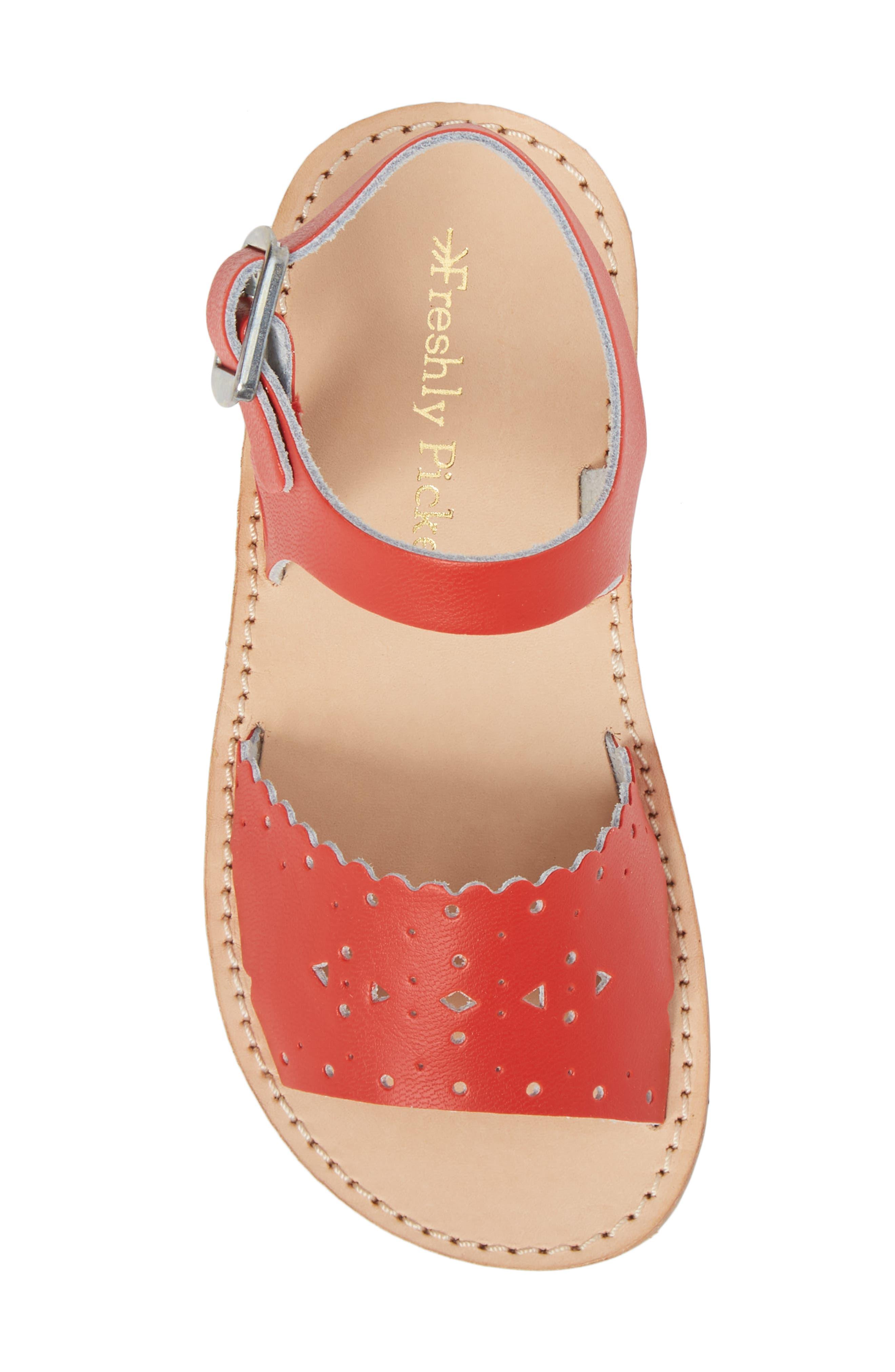 Laguna Water Resistant Perforated Sandal,                             Alternate thumbnail 5, color,                             CHERRY