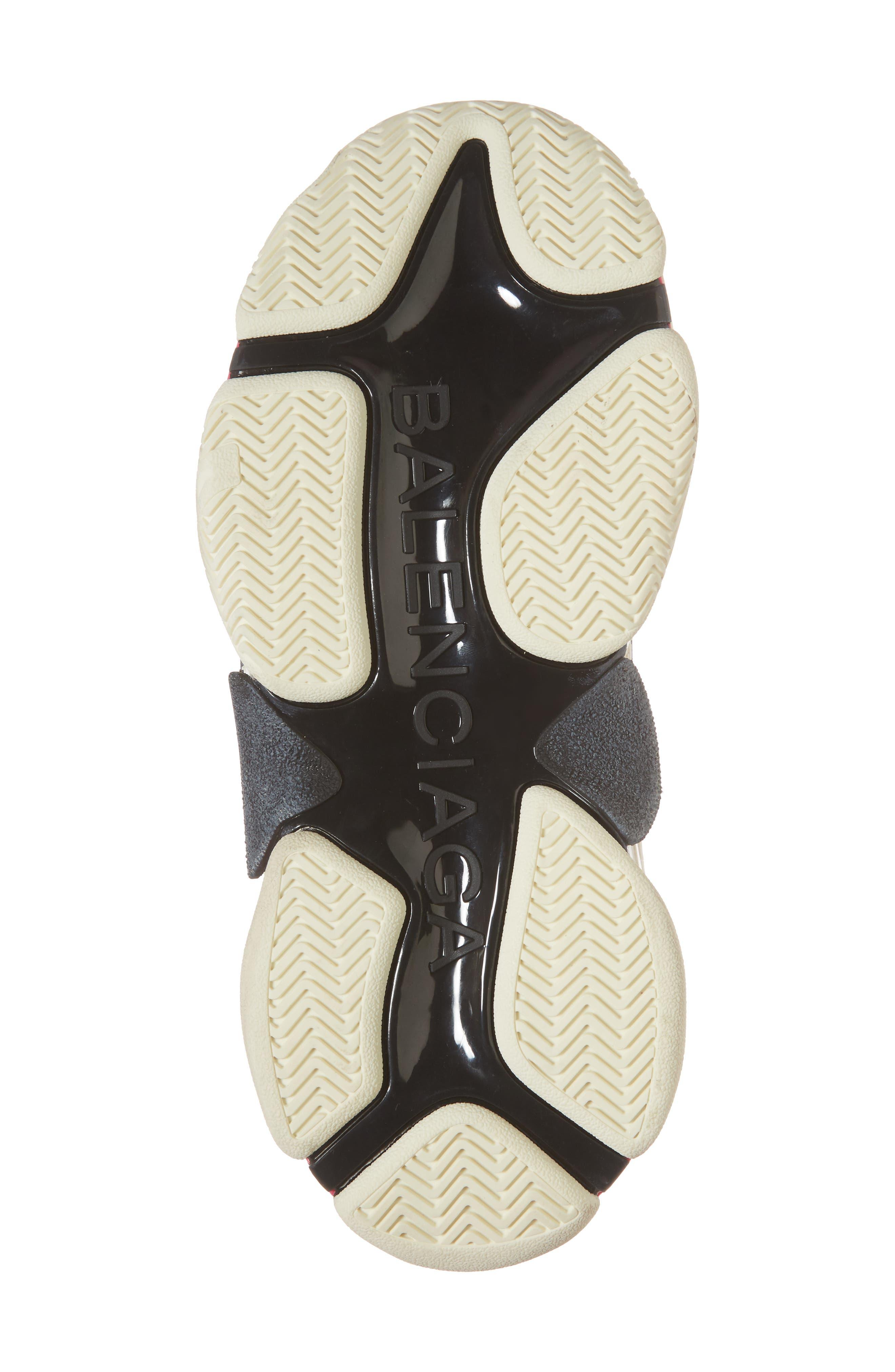 BALENCIAGA,                             Triple S Low Top Sneaker,                             Alternate thumbnail 6, color,                             WHITE/ BLACK/ PINK