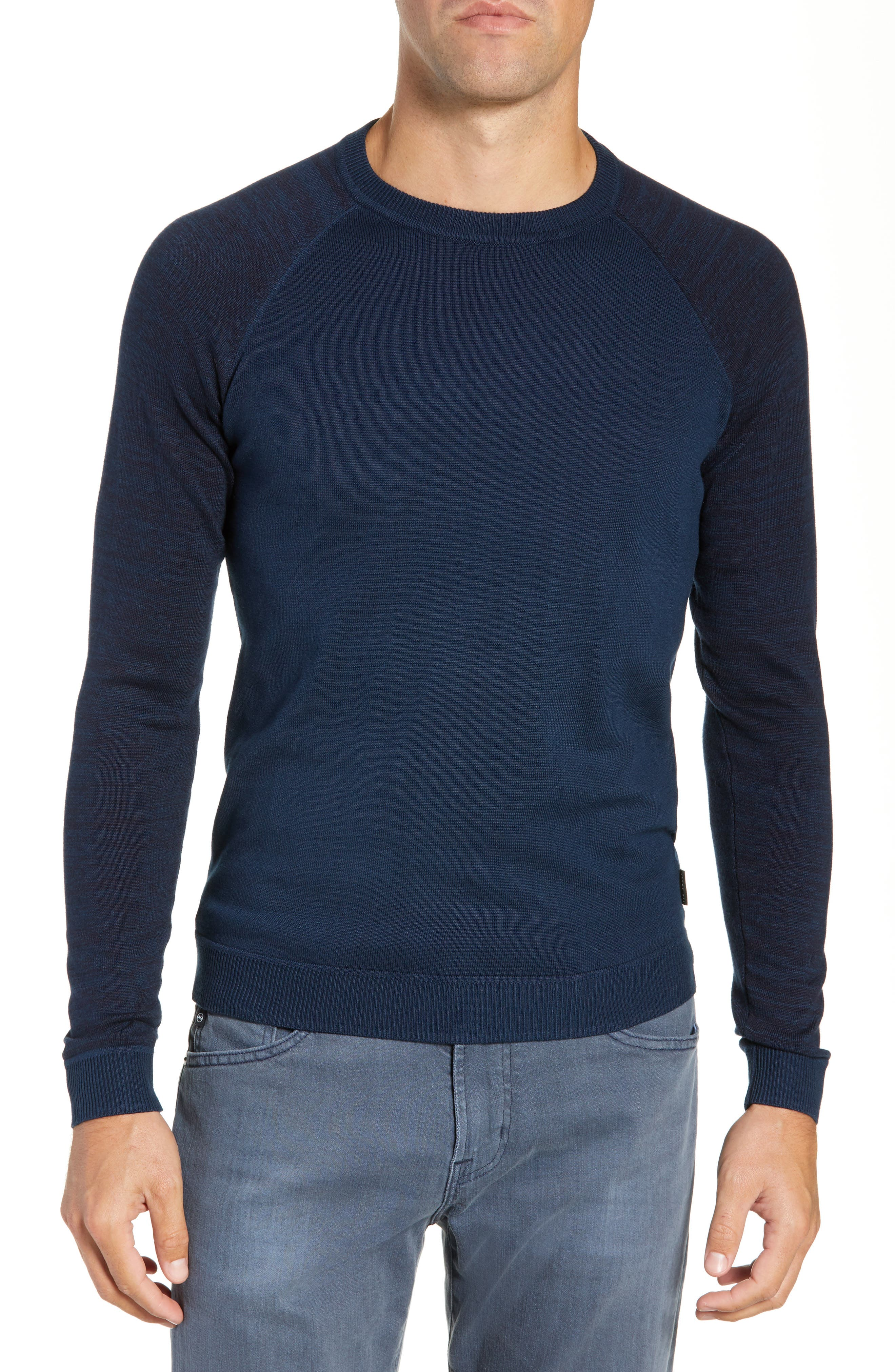 Cornfed Slim Fit Sweater,                         Main,                         color, TEAL-BLUE