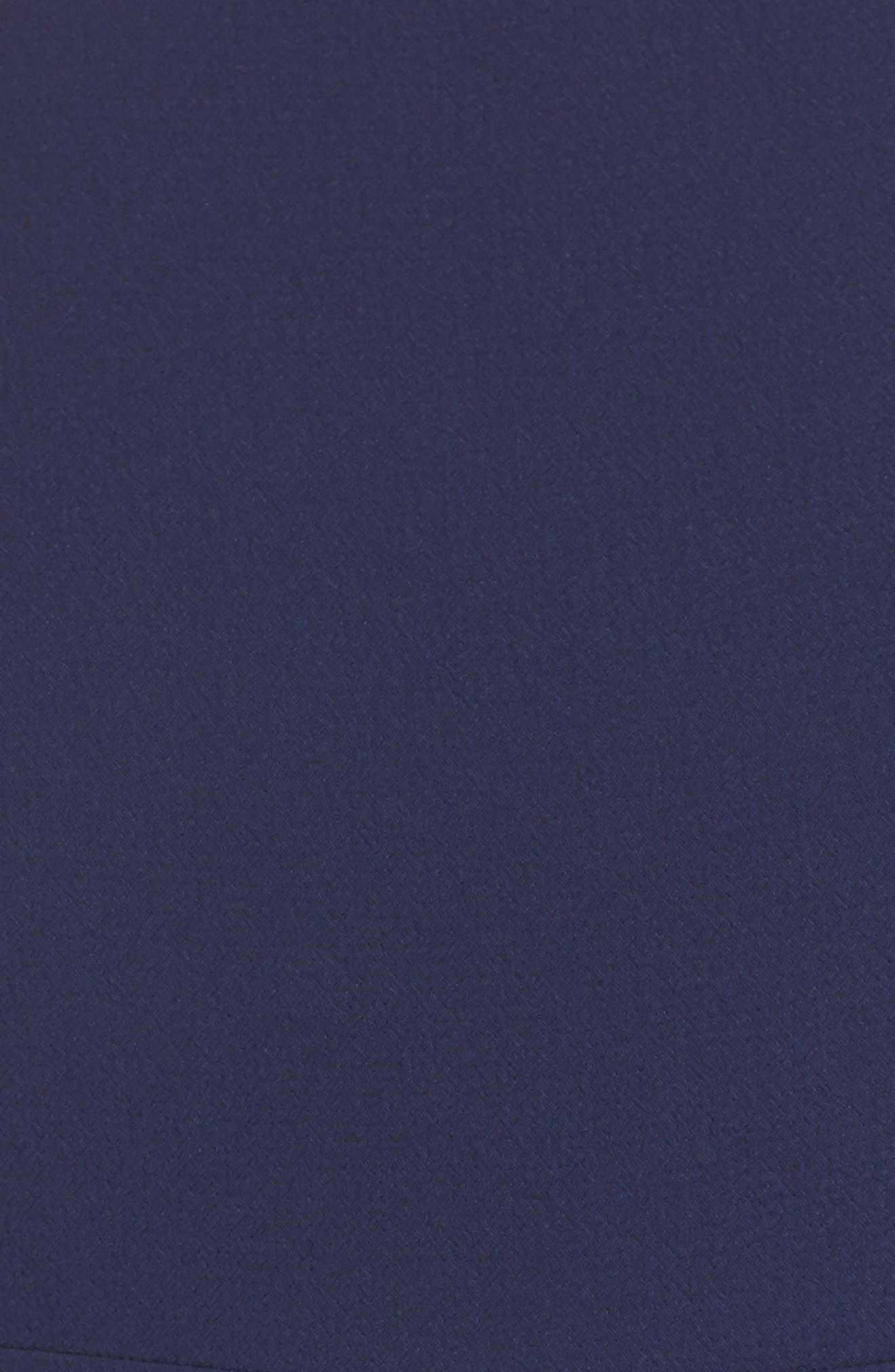 ELIZA J,                             Ella Cascade Crepe Sheath Dress,                             Alternate thumbnail 5, color,                             419