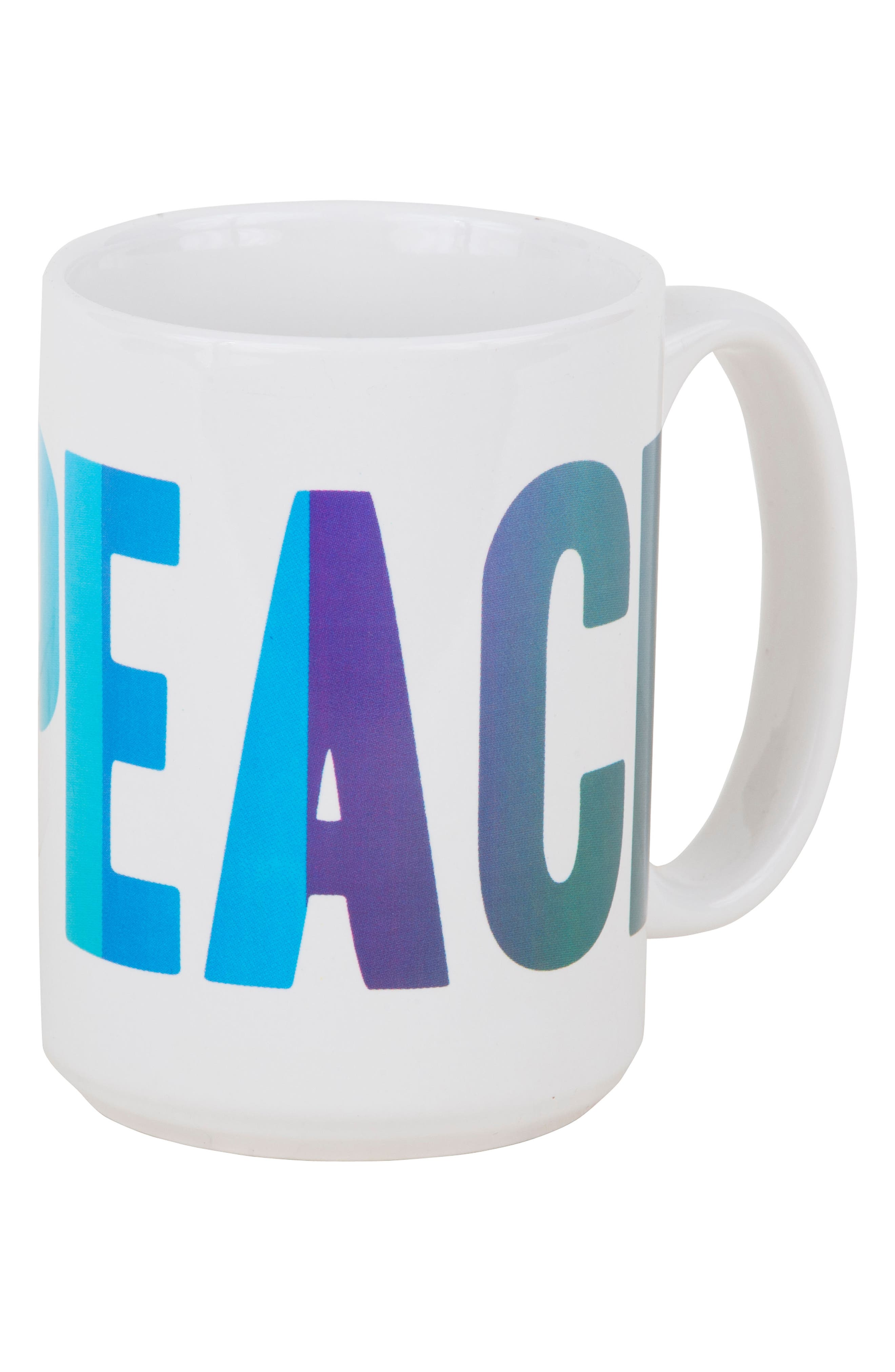 Peace Love Happiness Set of 3 Mugs,                             Alternate thumbnail 3, color,                             100