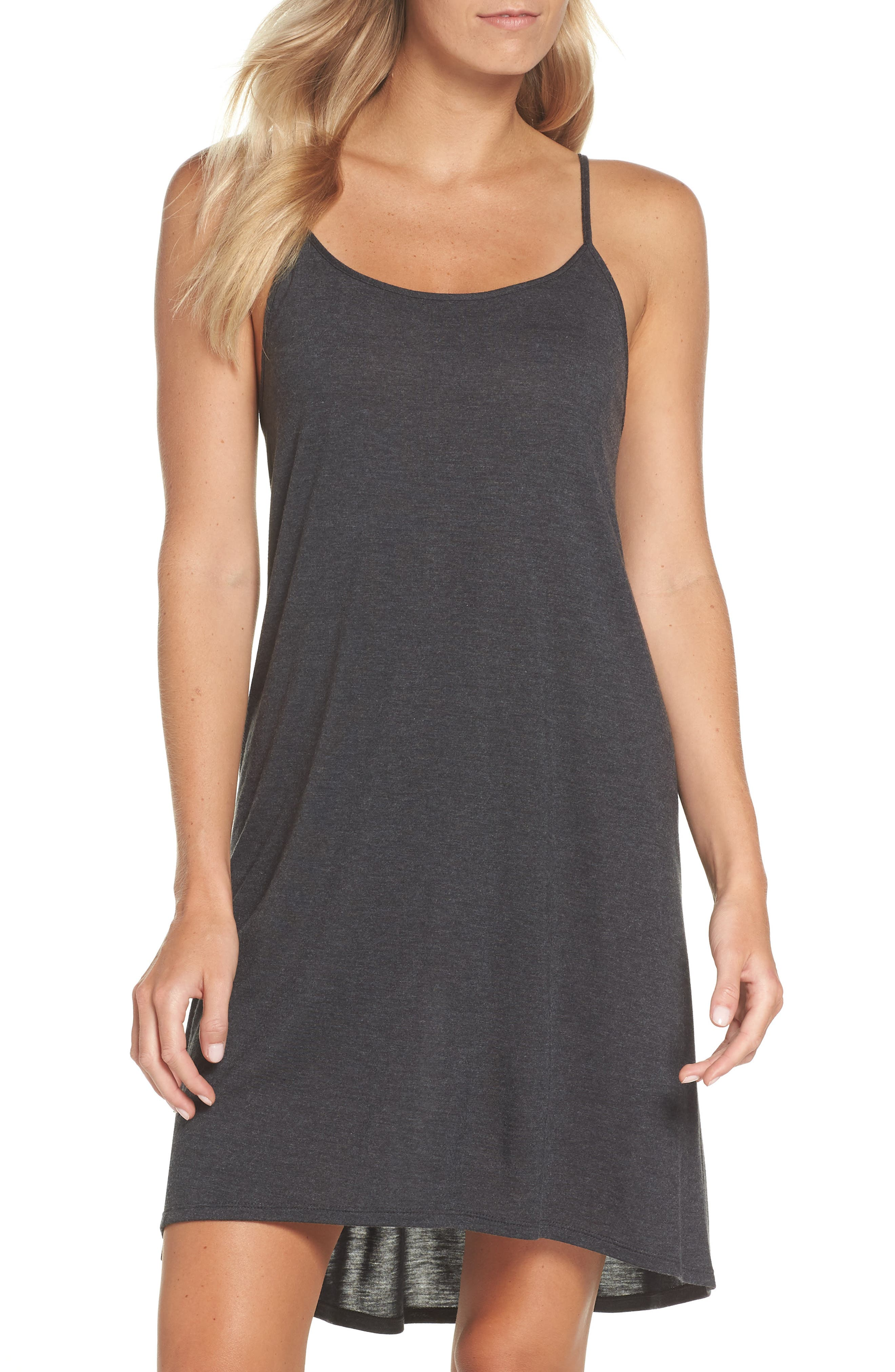 Heather Tees Chemise,                             Main thumbnail 1, color,                             HEATHER GRANITE