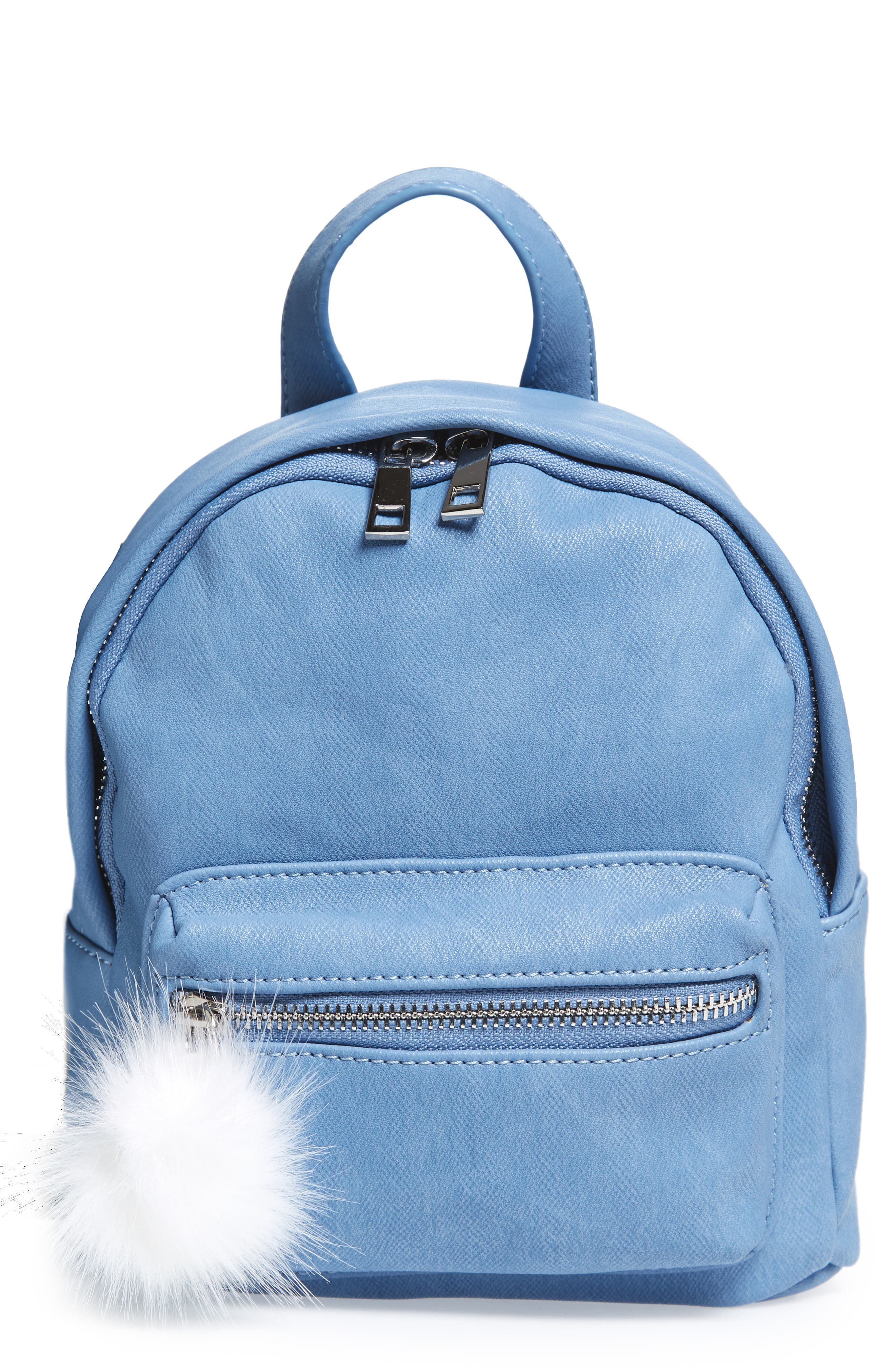 Faux Leather Mini Backpack,                             Main thumbnail 3, color,