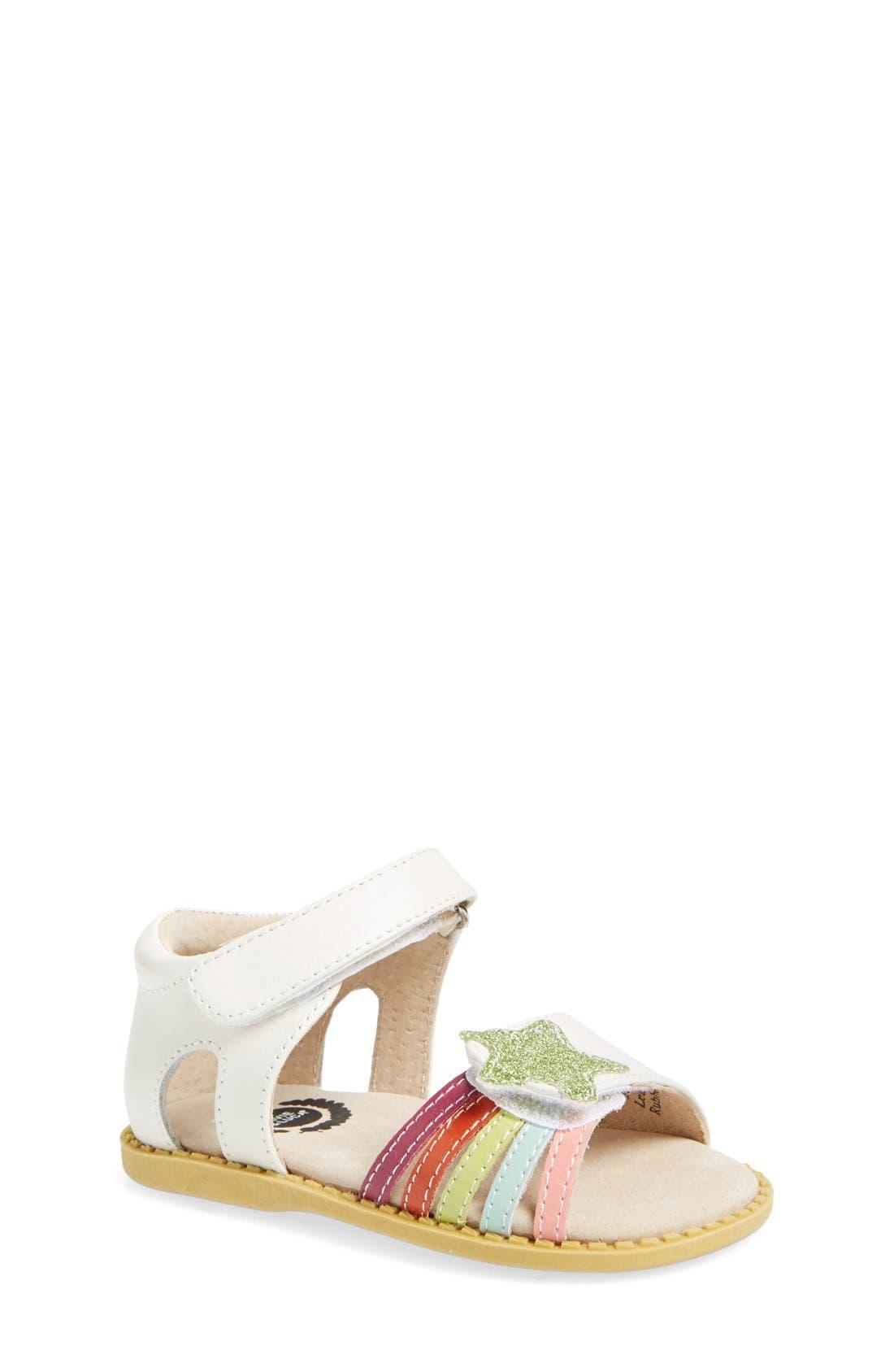 'Nova' Sandal,                         Main,                         color, MILK LEATHER