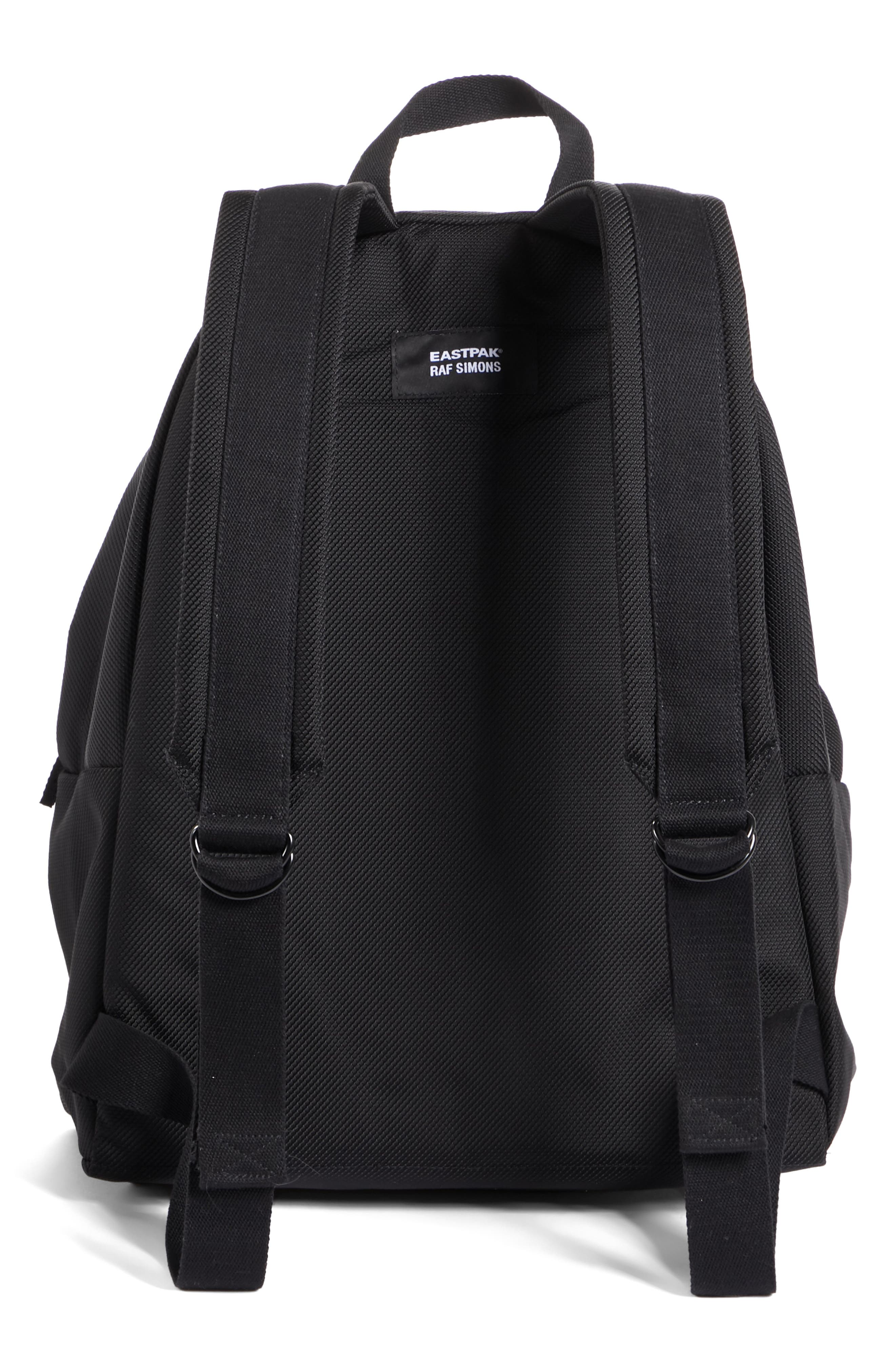 Eastpak x Raf Simons Classic Structured Backpack,                             Alternate thumbnail 3, color,                             001