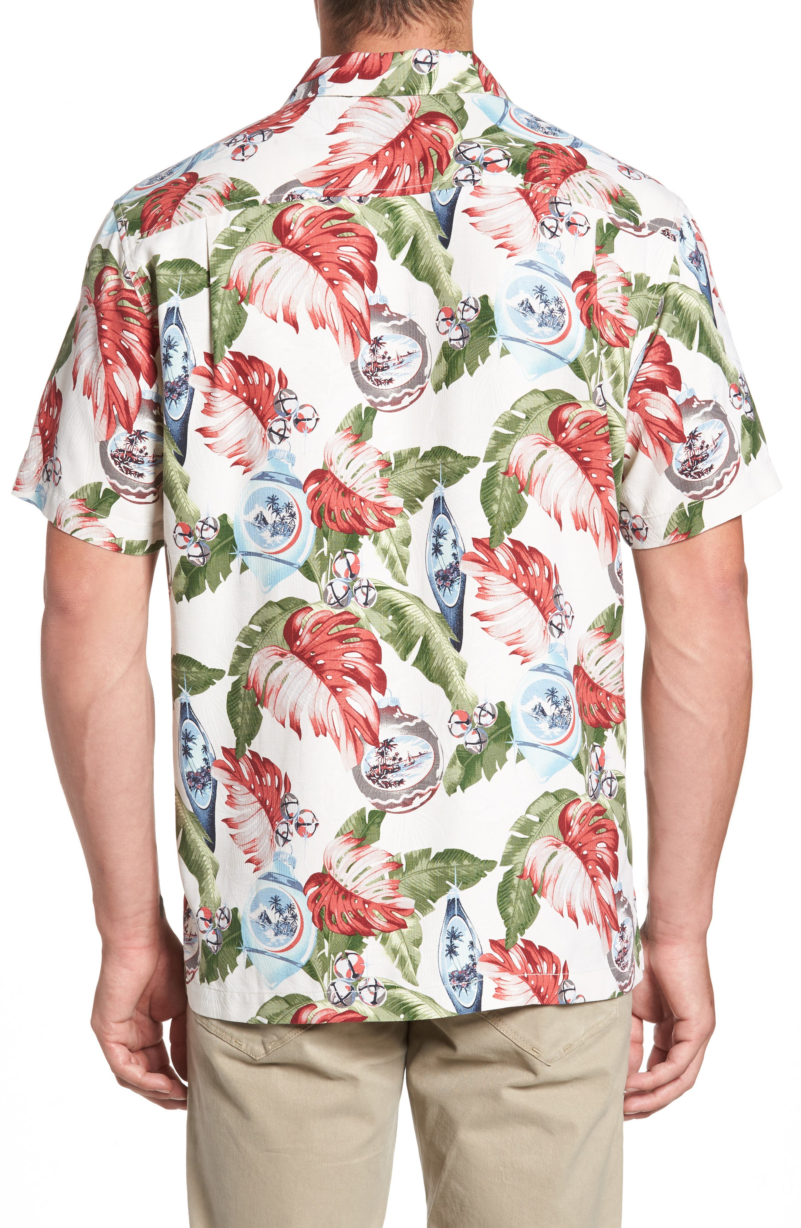 With Bells On Silk Camp Shirt,                             Alternate thumbnail 4, color,
