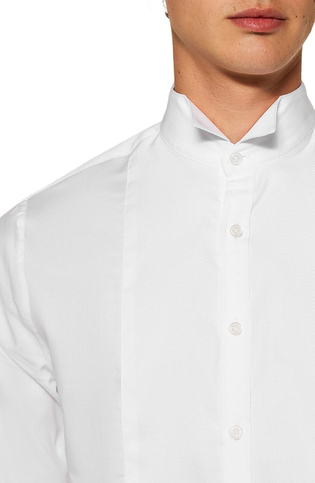 Wing Collar Classic Shirt,                             Alternate thumbnail 2, color,                             WHITE