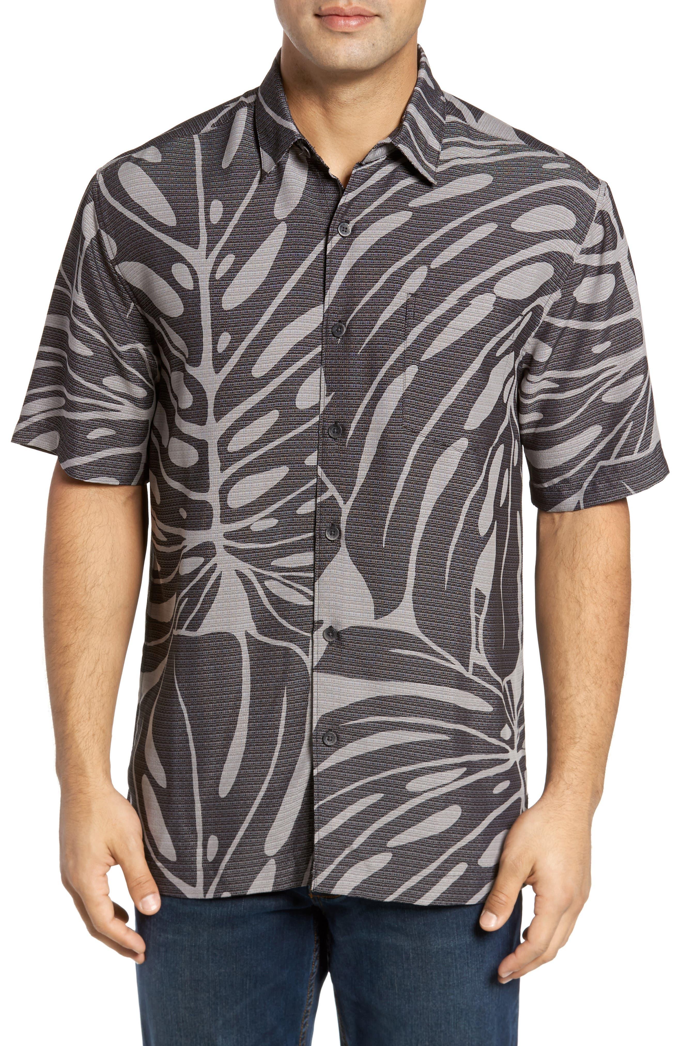 Syri's Leaf Classic Fit Print Sport Shirt,                             Main thumbnail 1, color,