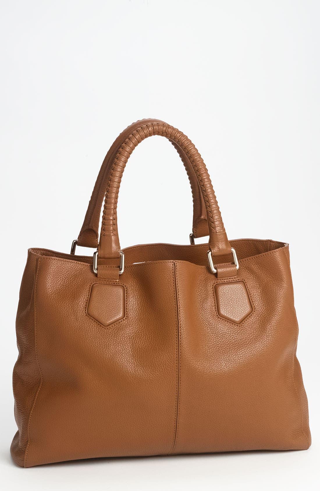 'Mila' Leather Shoulder Bag, Main, color, 212