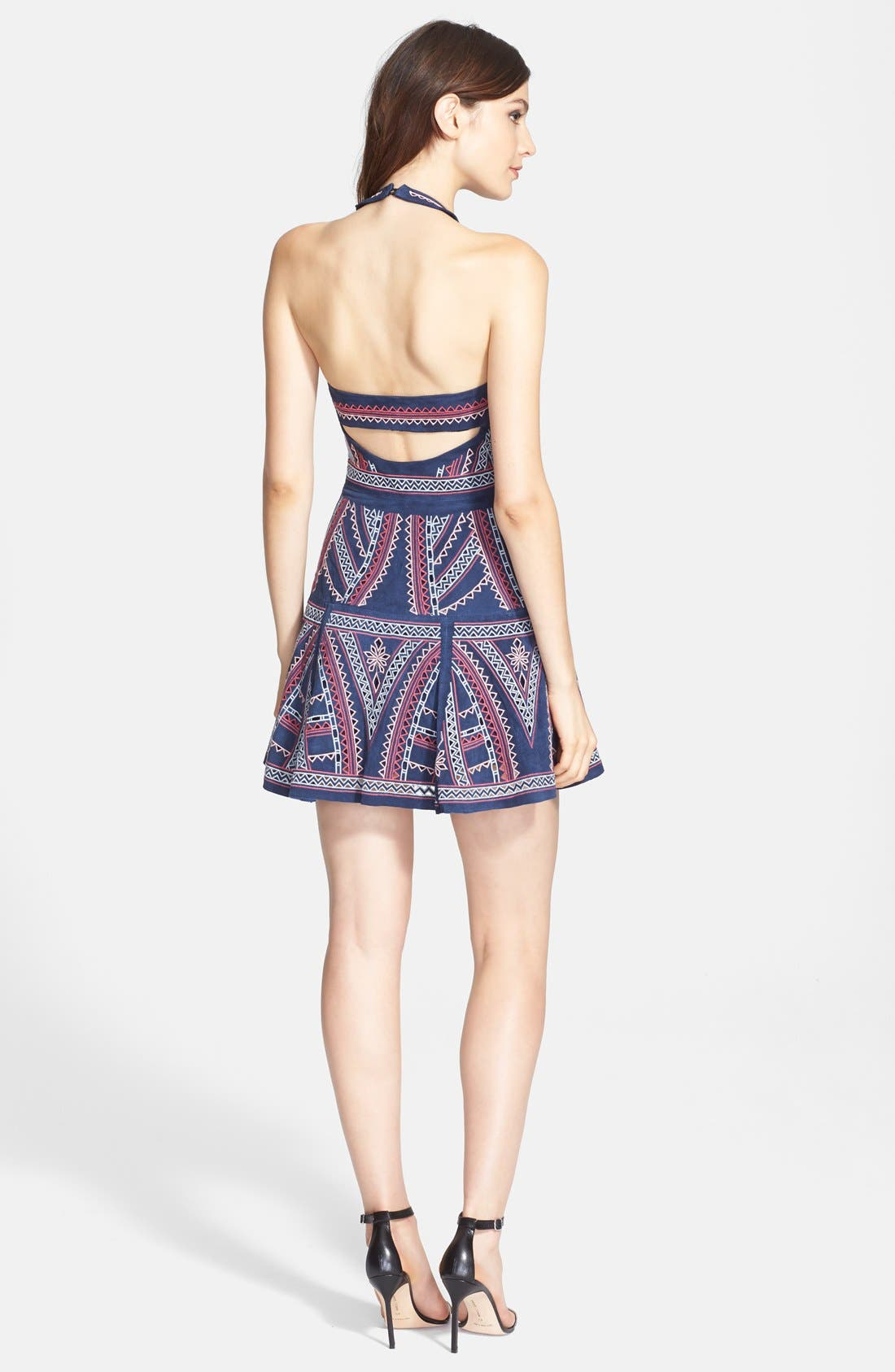 'Leona' Embroidered Sleeveless Fit & Flare Dress,                             Alternate thumbnail 2, color,                             411