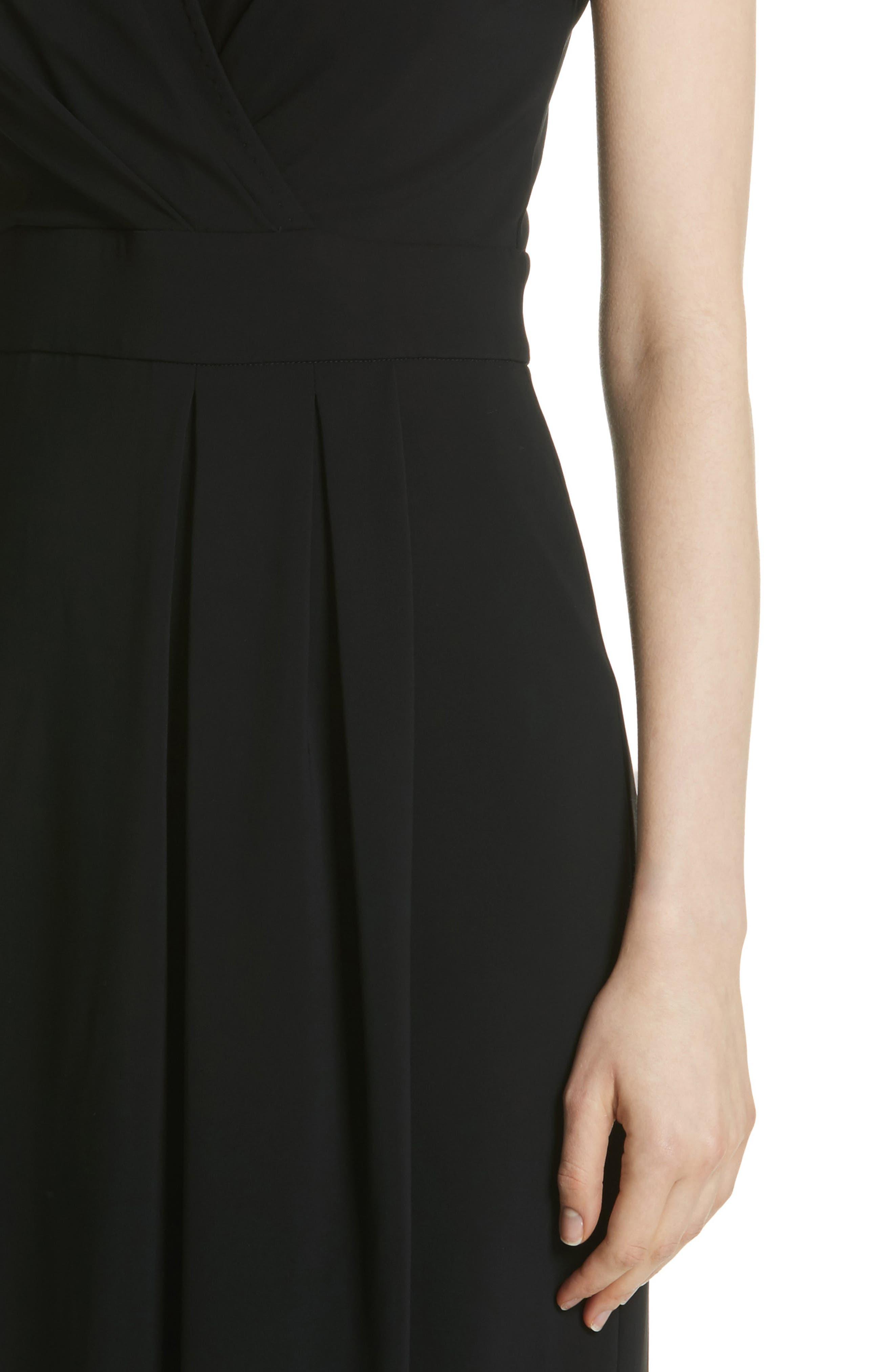 Feluca Surplice Dress,                             Alternate thumbnail 4, color,                             001