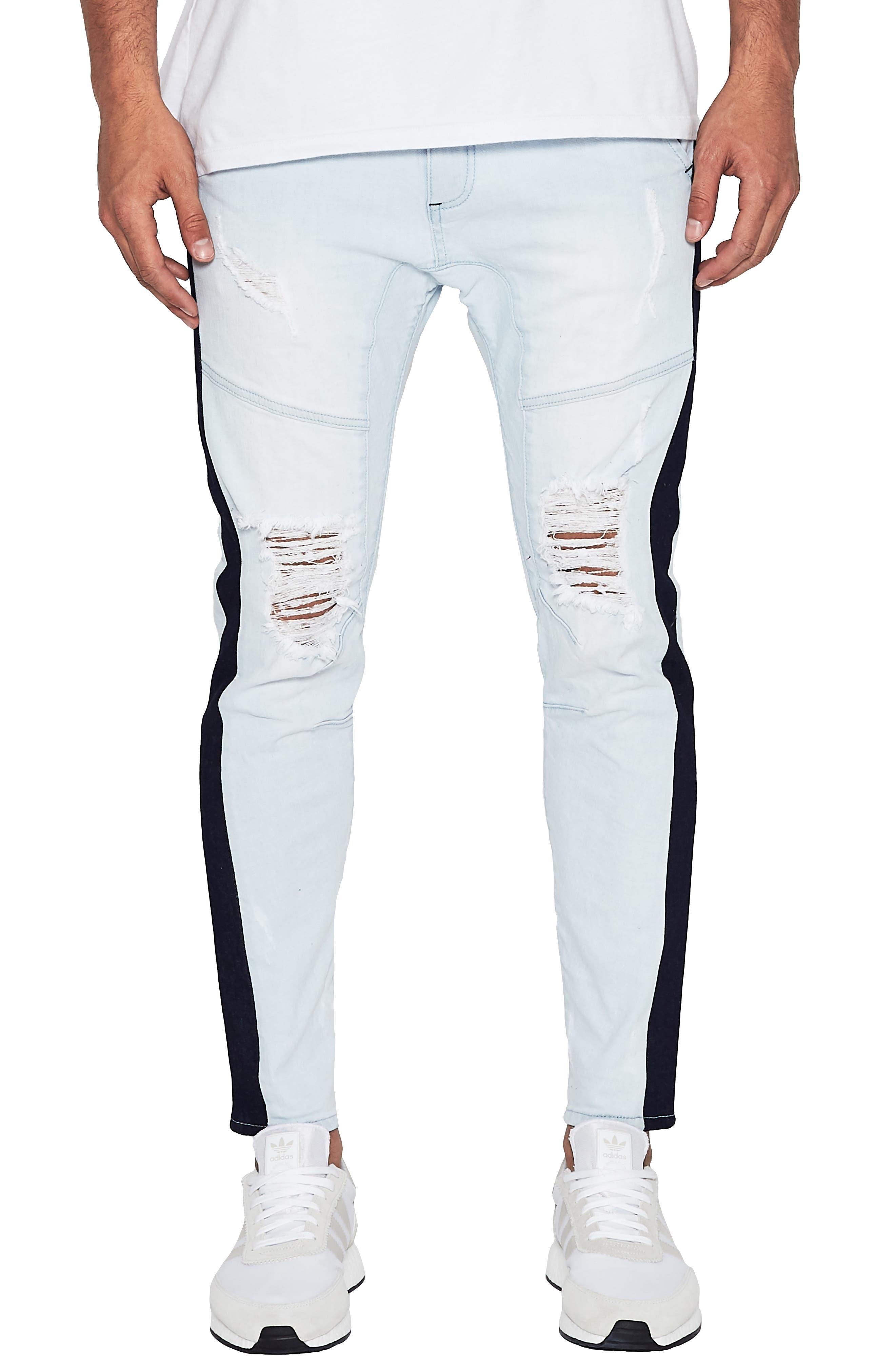 NXP Sergeant Slim Fit Jeans in Broken Bleach