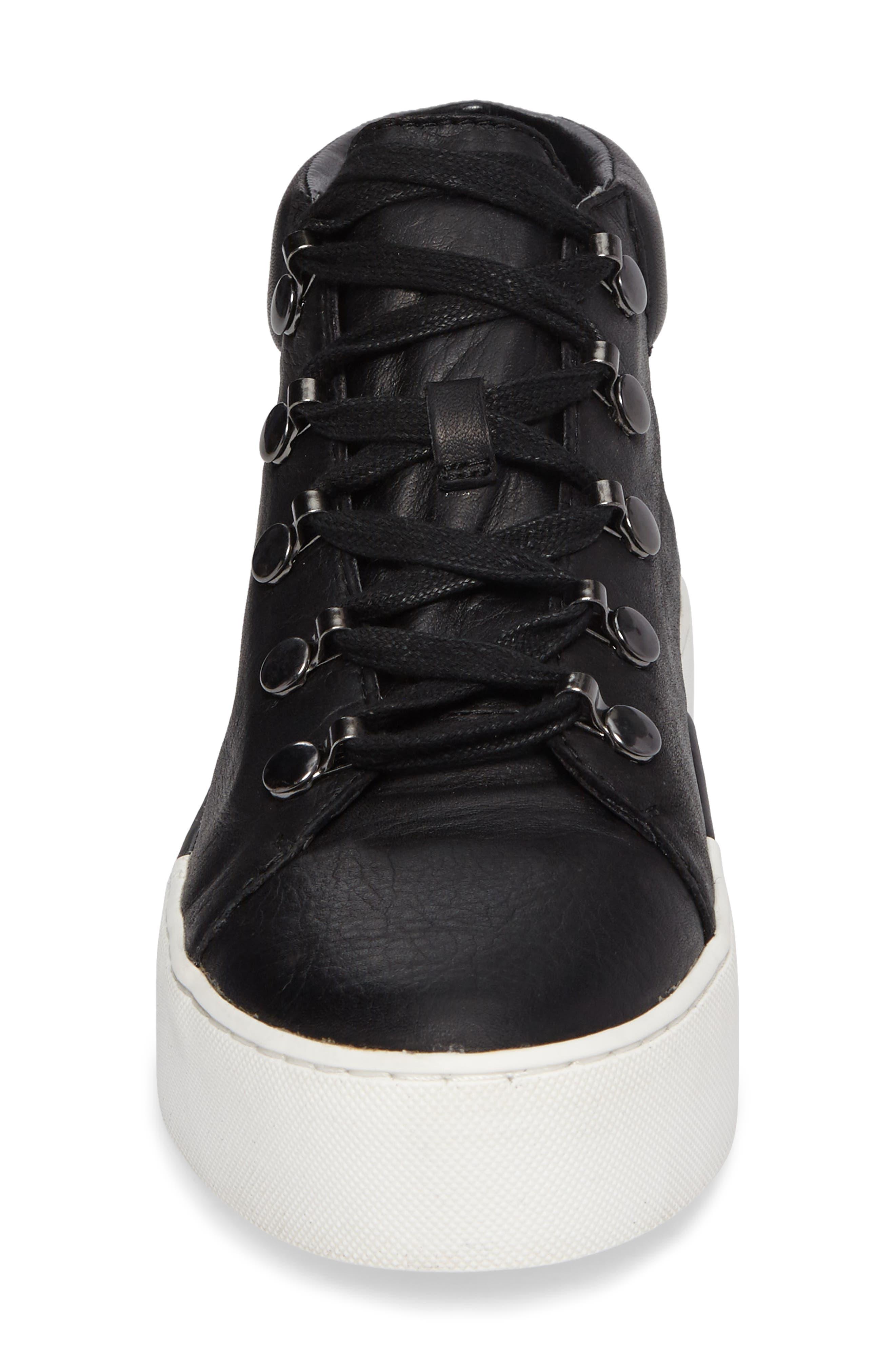 Wrine High Top Sneaker,                             Alternate thumbnail 4, color,                             001