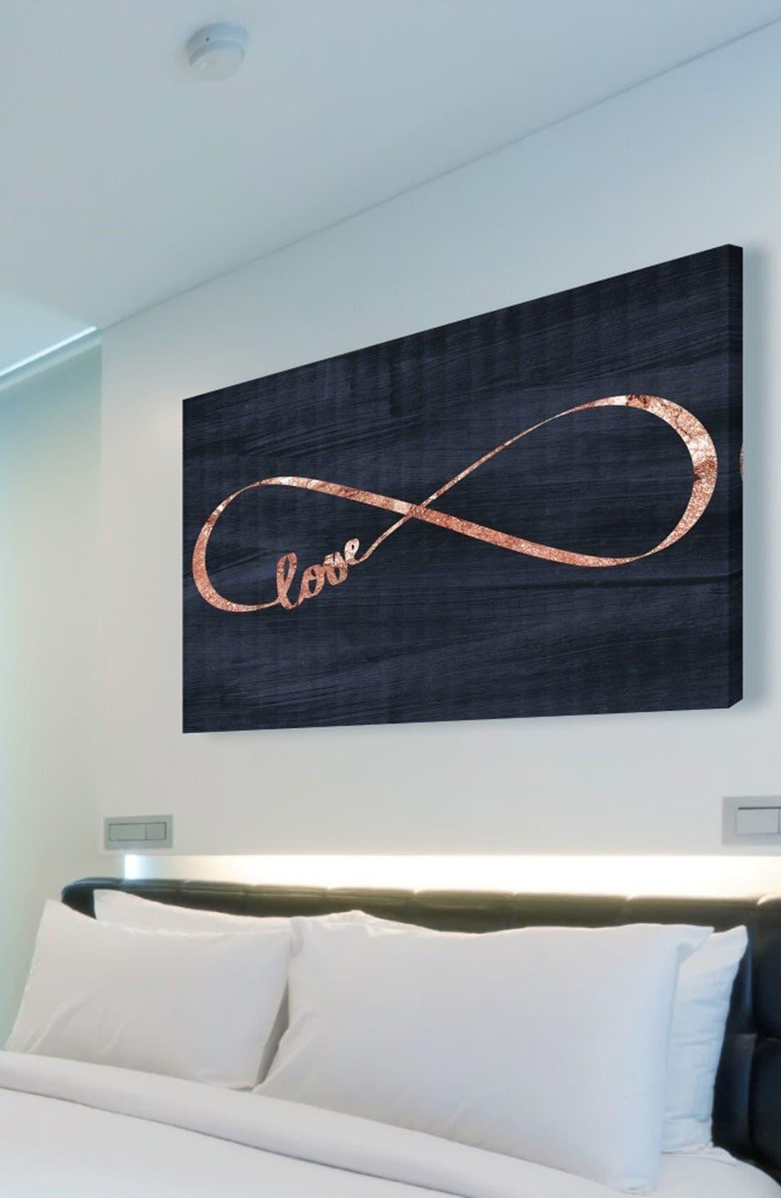 'Infinite Love' Canvas Wall Art,                             Alternate thumbnail 2, color,                             001