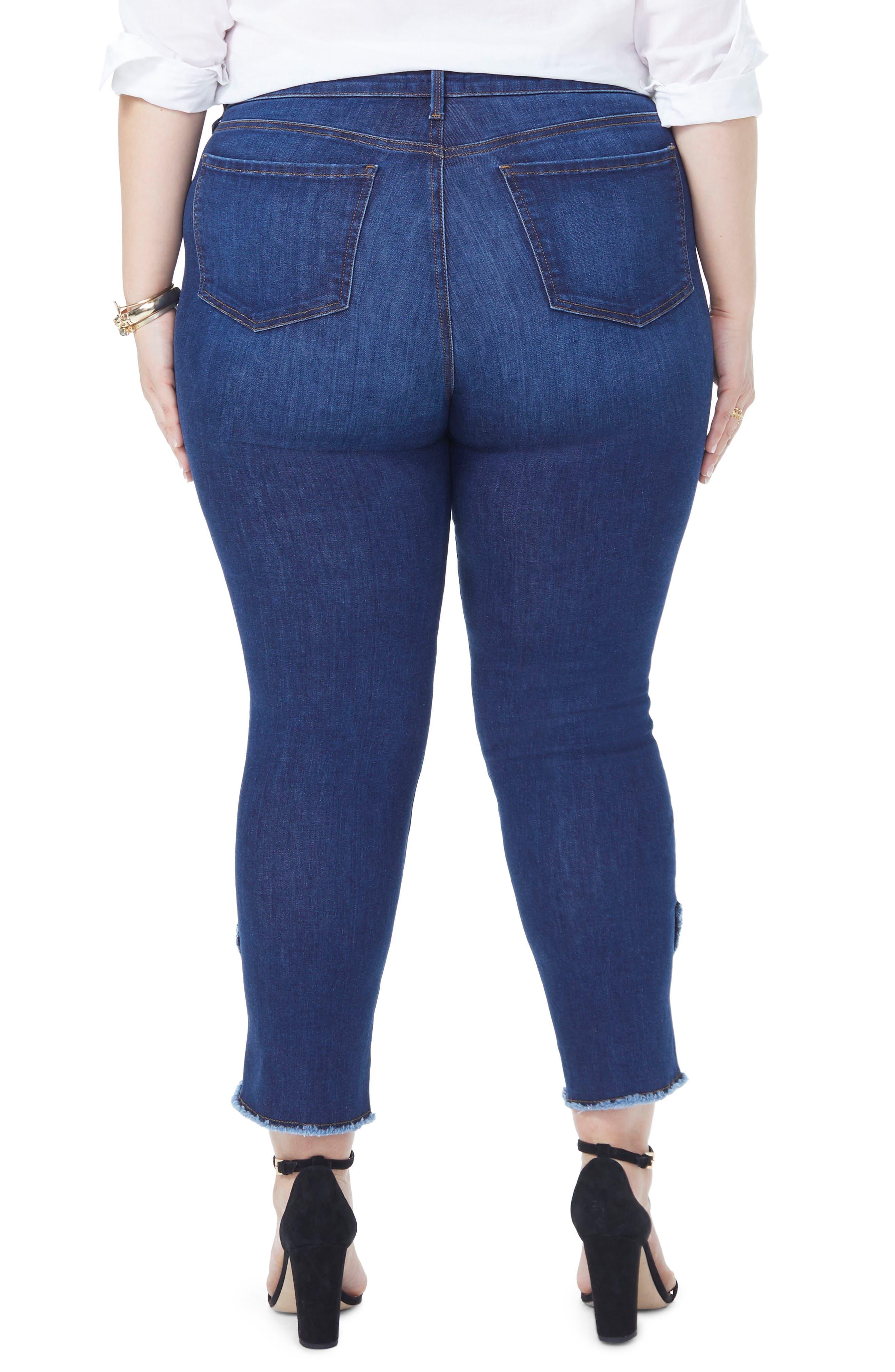 Sheri Envelope Hem Stretch Slim Ankle Jeans,                             Alternate thumbnail 2, color,                             COOPER