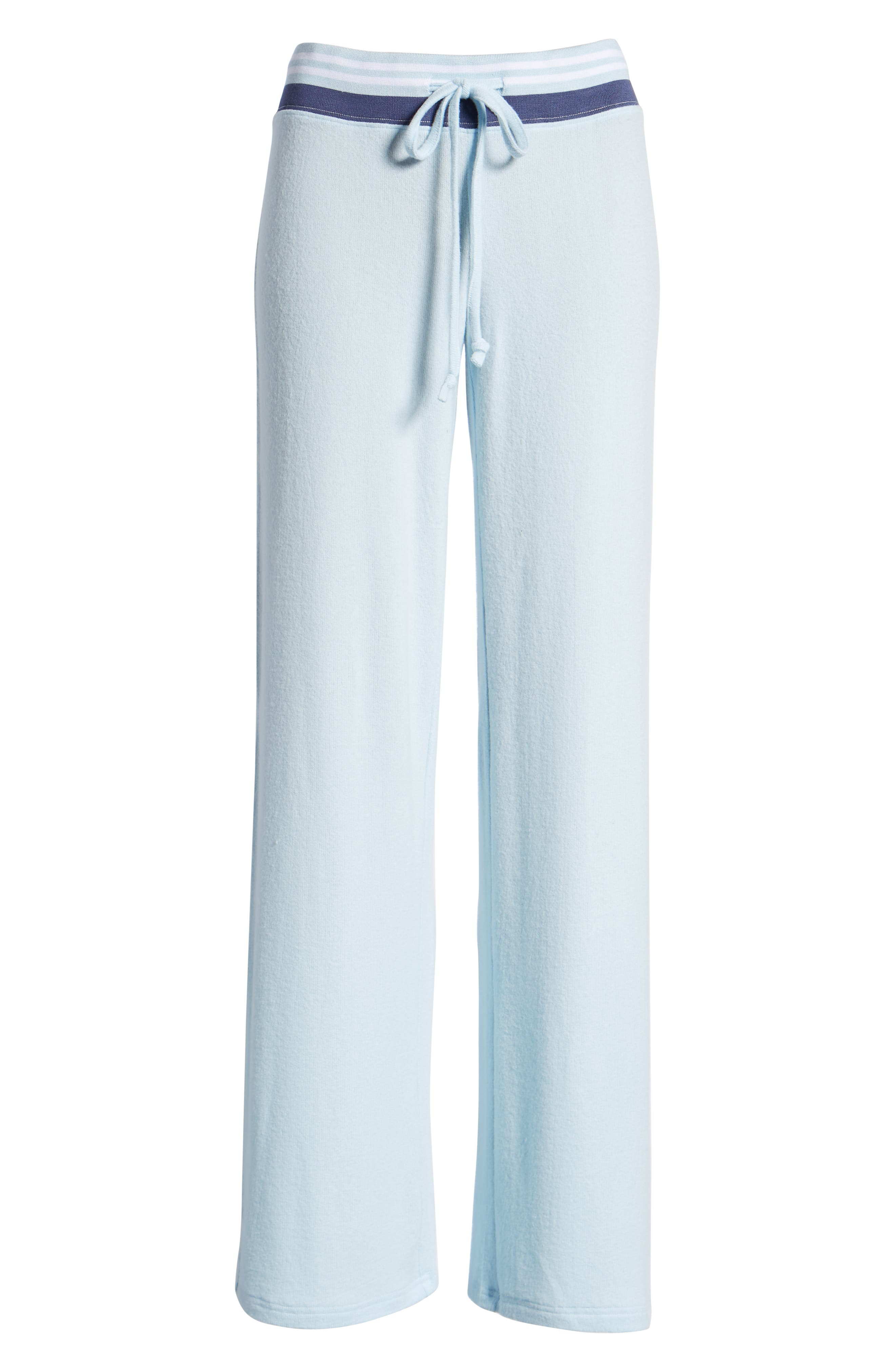Best Boyfriend Brushed Hacci Lounge Pants,                             Alternate thumbnail 6, color,                             BLUE OMPHALODES