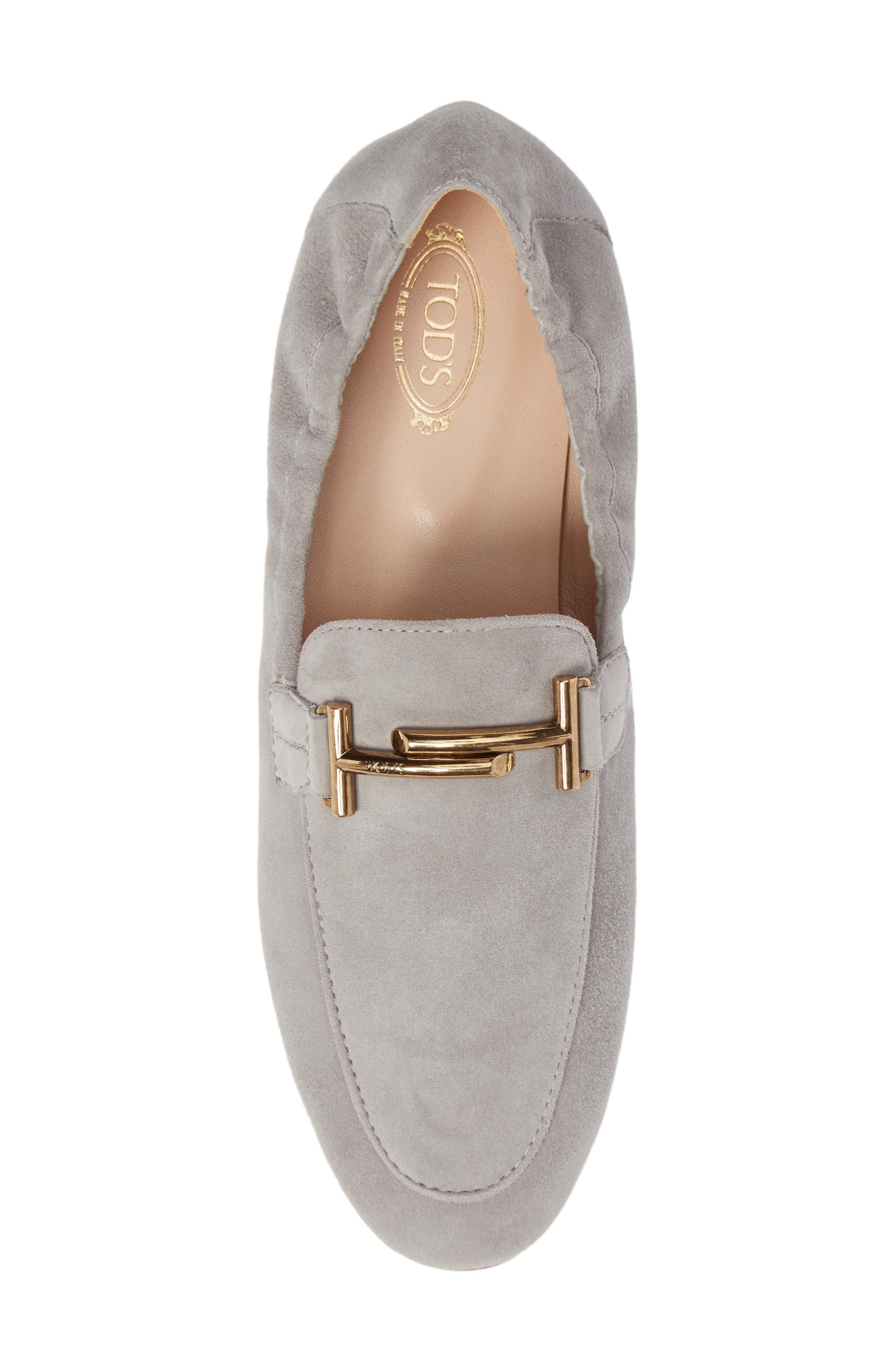 Double T Scrunch Loafer,                             Alternate thumbnail 5, color,                             020