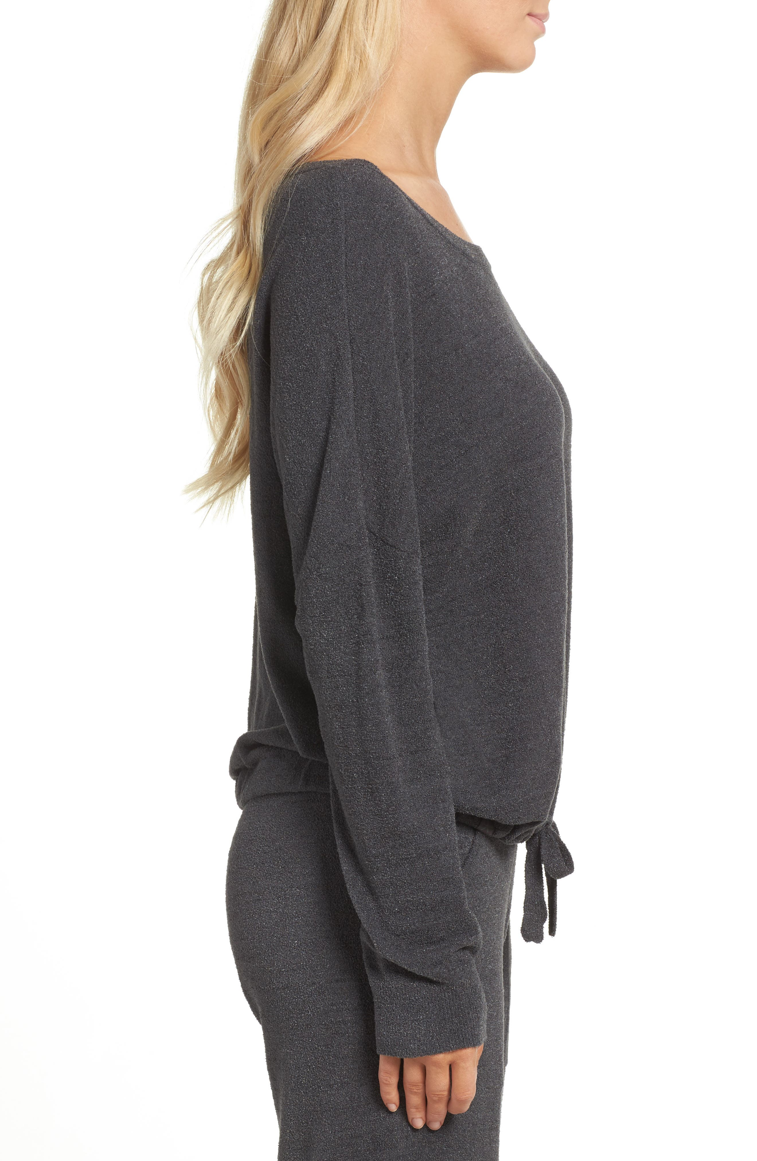 Cozychic Ultra Lite<sup>®</sup> Lounge Pullover,                             Alternate thumbnail 3, color,                             CARBON