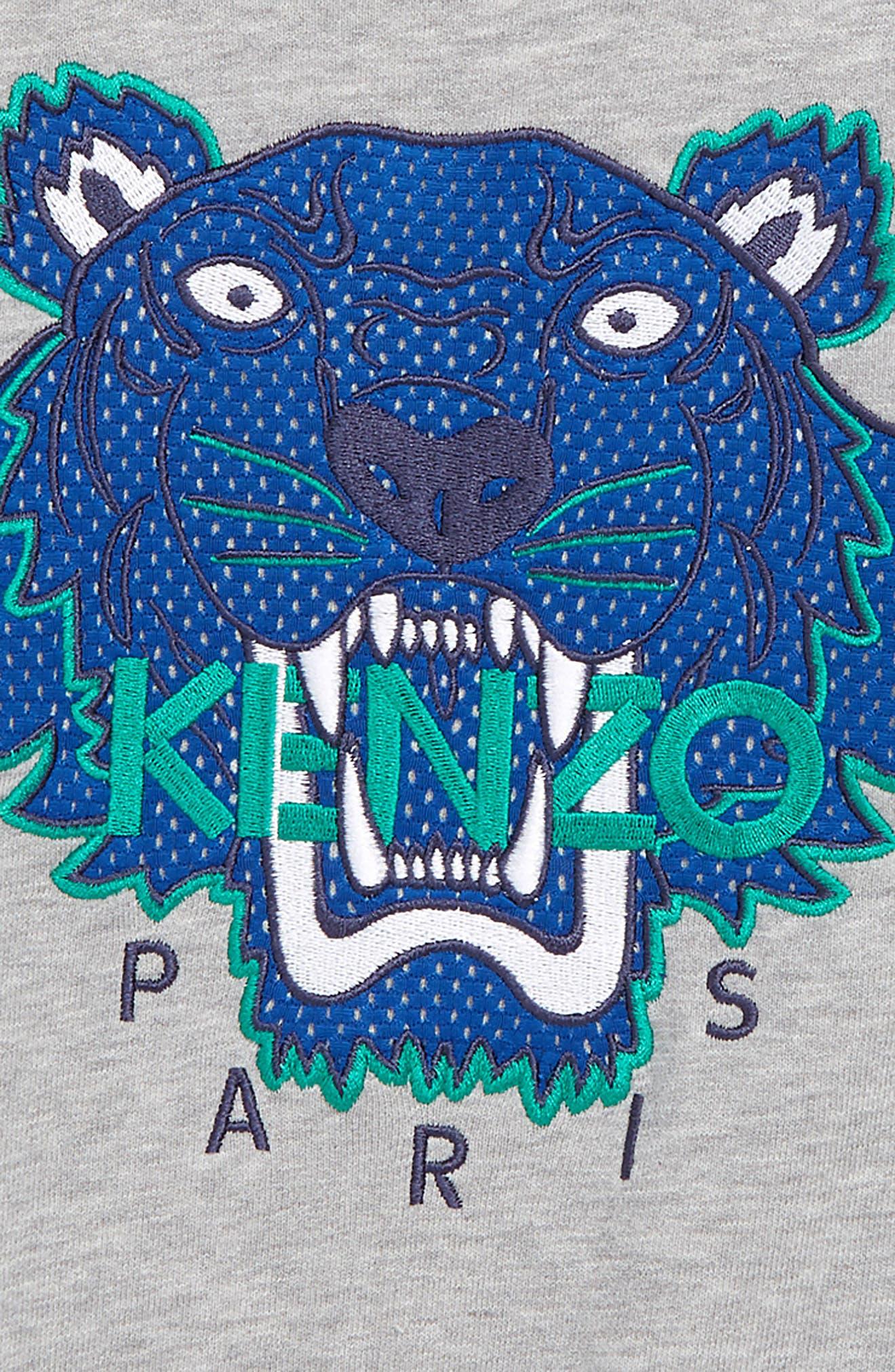 KENZO,                             Tiger Appliqué Sweatshirt,                             Alternate thumbnail 2, color,                             MARL GREY