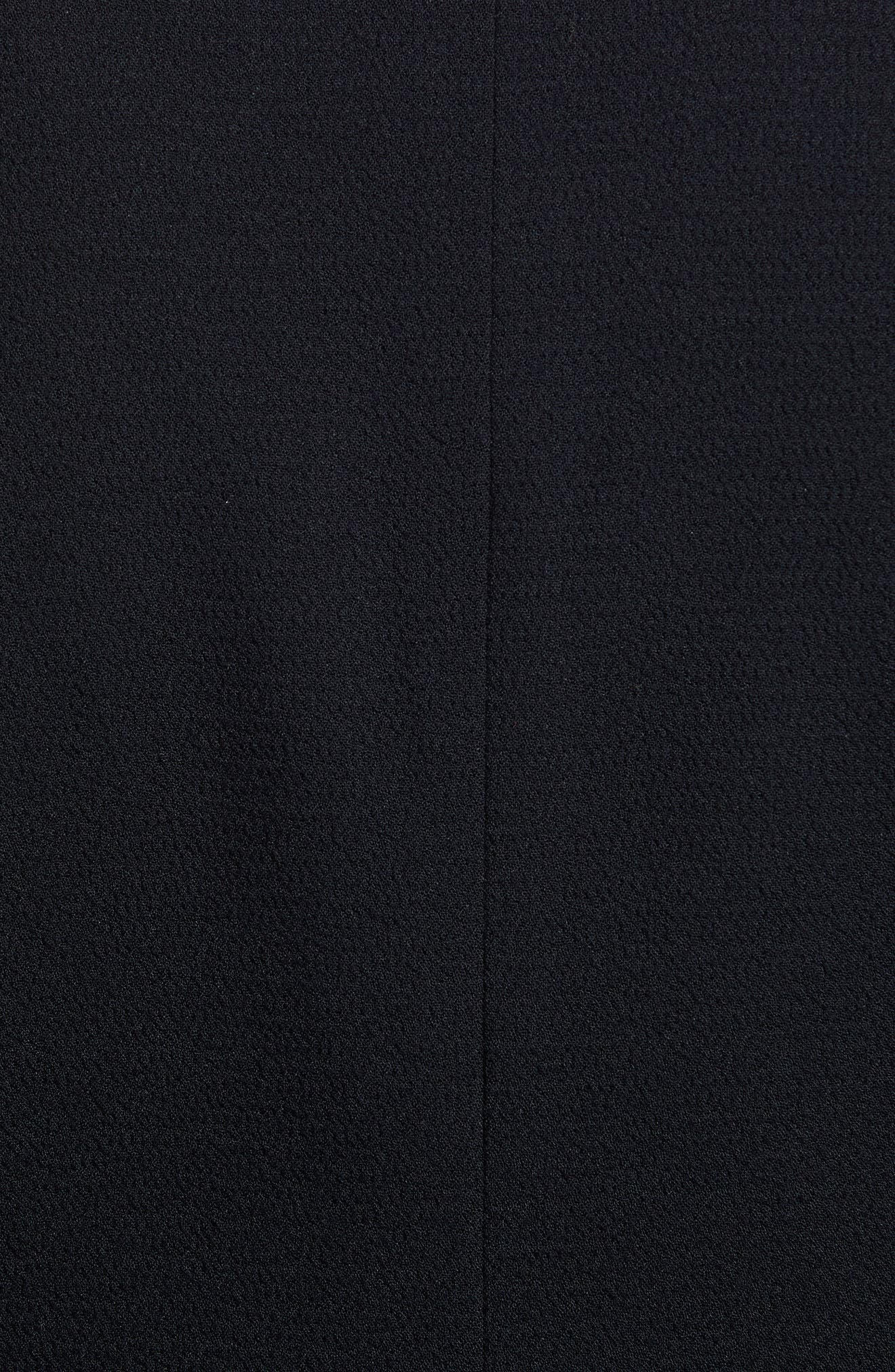 Double Breasted Crepe Blazer,                             Alternate thumbnail 7, color,                             001