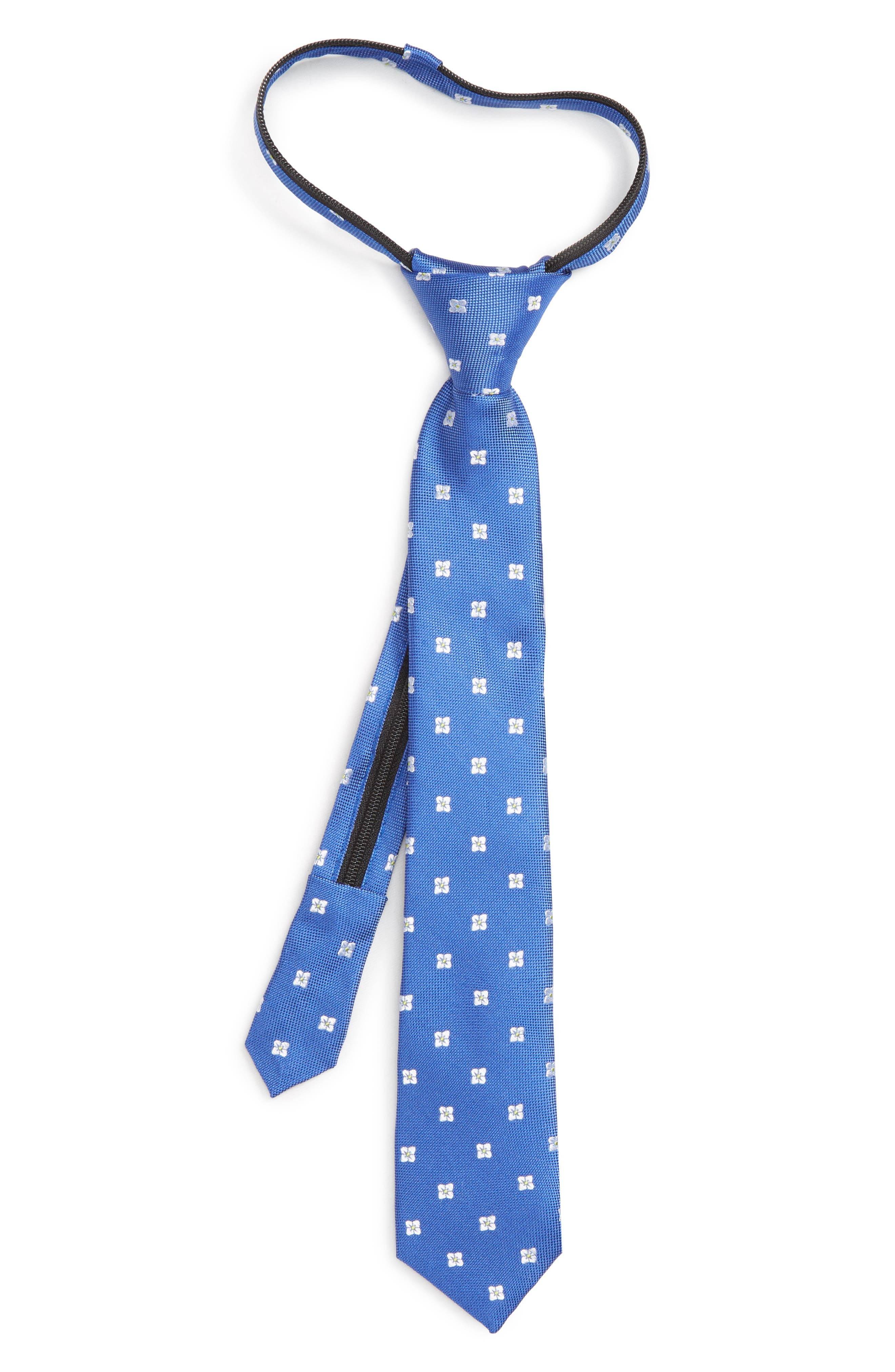 NORDSTROM,                             Floral Silk Zip Tie,                             Main thumbnail 1, color,                             431