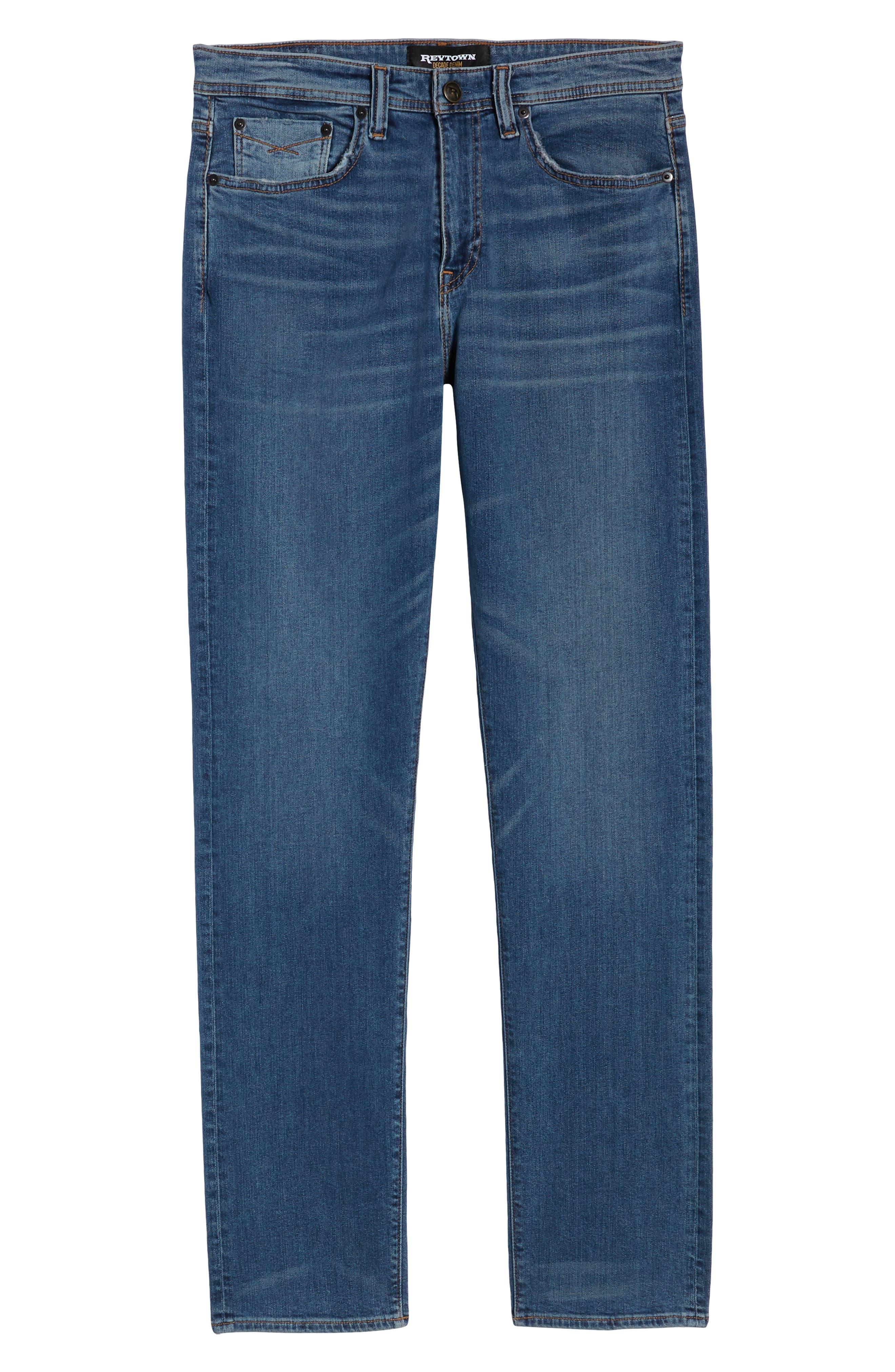Automatic Straight Leg Jeans,                             Alternate thumbnail 6, color,                             FADED INDIGO