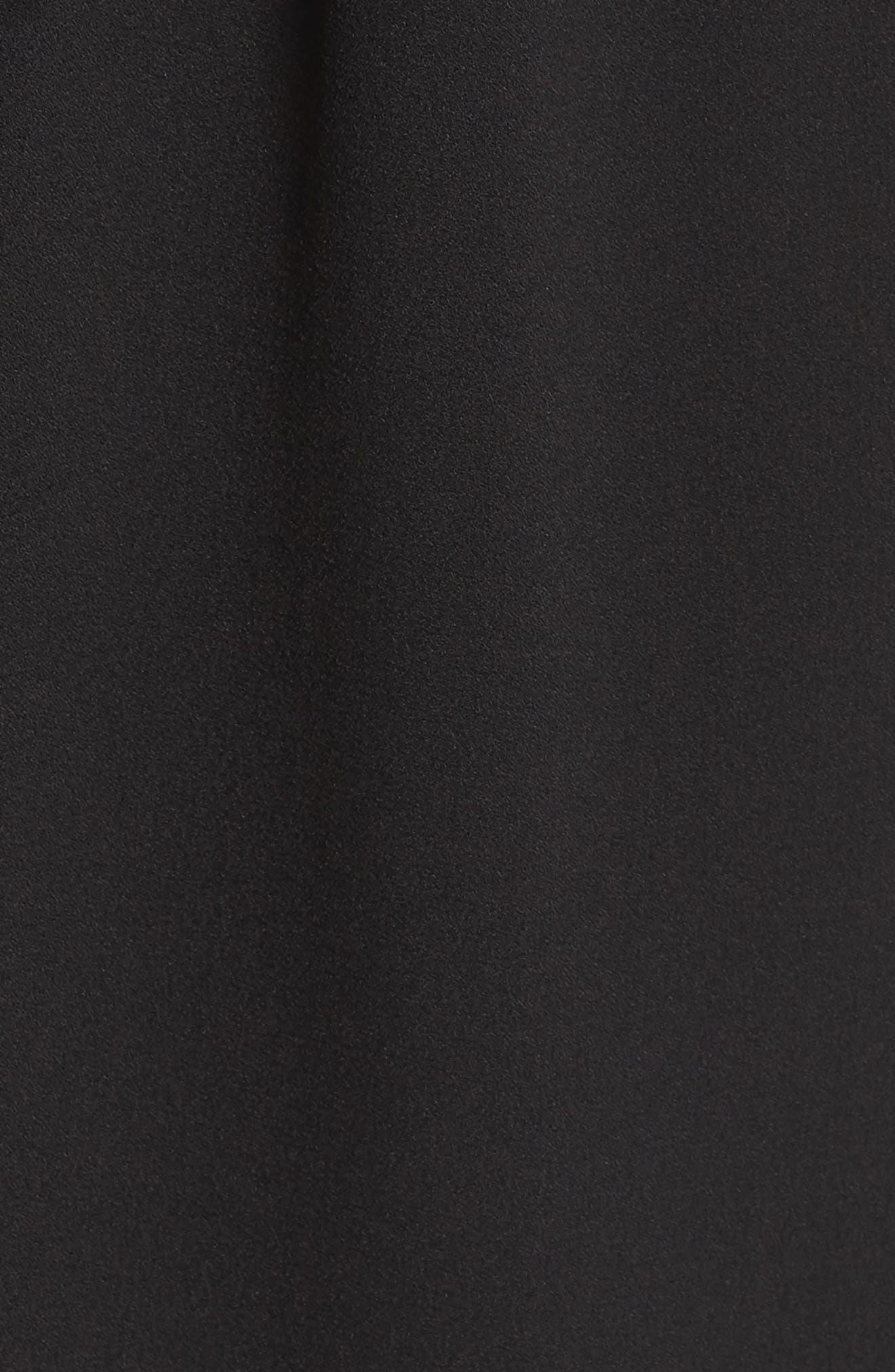 Tie Front Sheath Dress,                             Alternate thumbnail 6, color,                             001