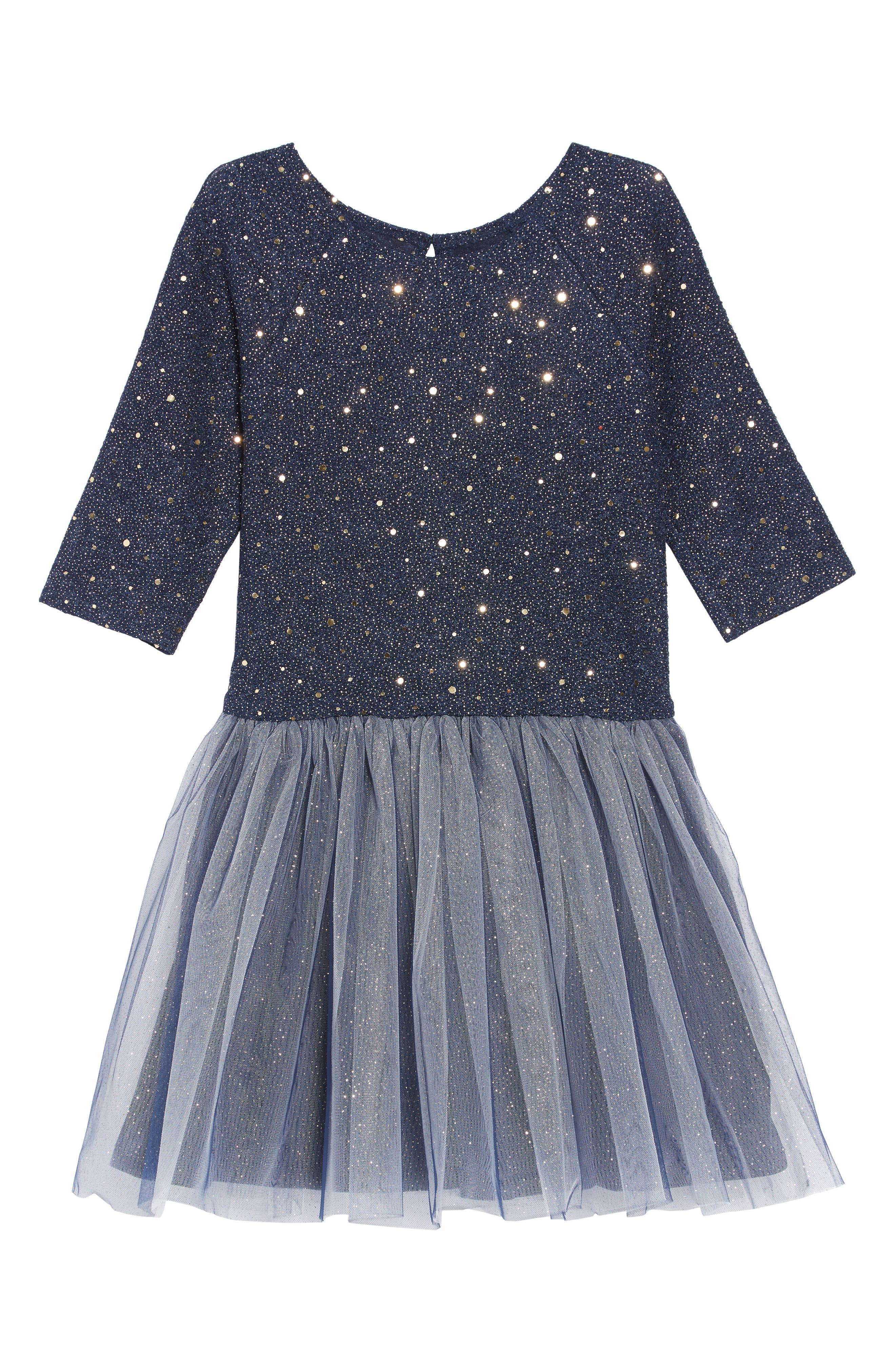 Embellished Tulle Dress,                             Main thumbnail 1, color,                             NAVY