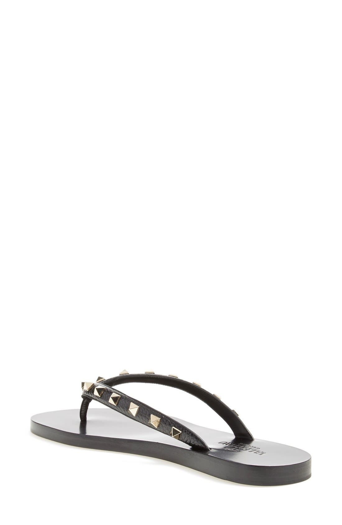 'Rockstud' Flip Flop,                             Alternate thumbnail 3, color,                             002