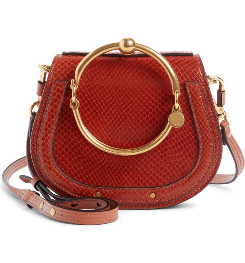 a36bd17a6c Chloé Small Nile Bracelet Snake Embossed Leather Crossbody Bag ...