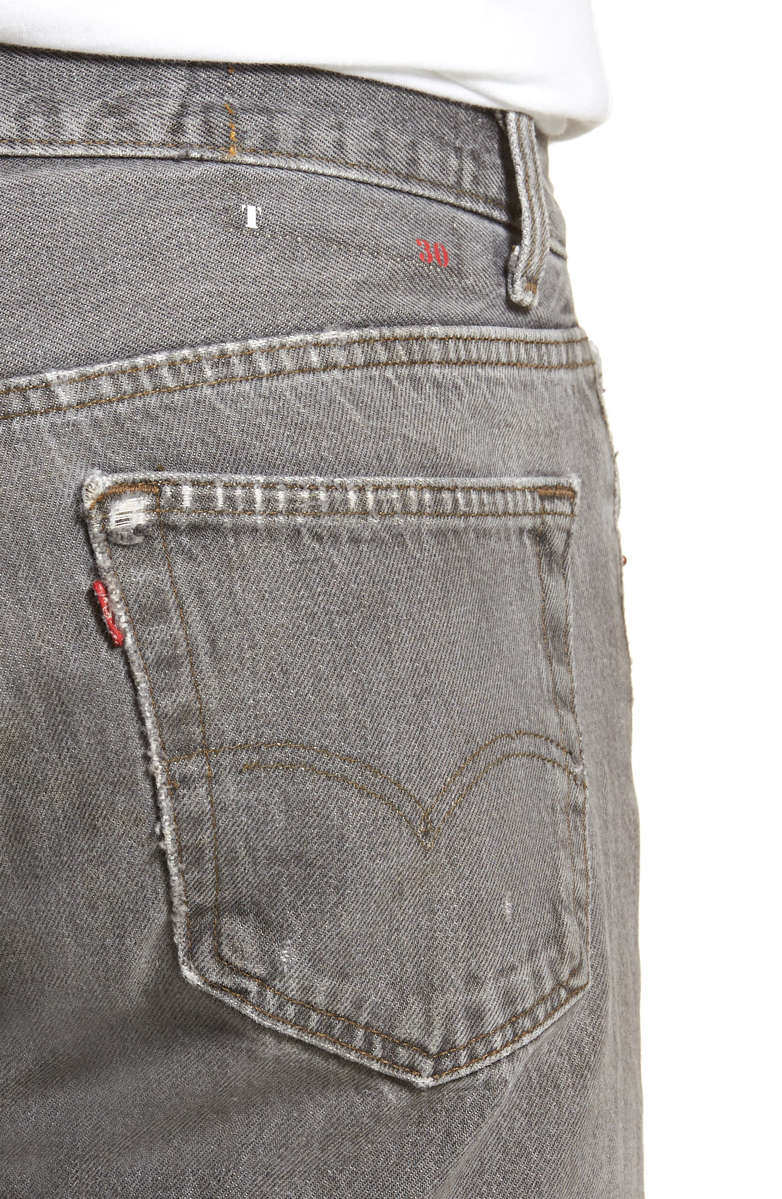 Authorized Vintage 501<sup>™</sup> Tapered Slim Fit Jeans,                             Alternate thumbnail 4, color,                             AV BLACK