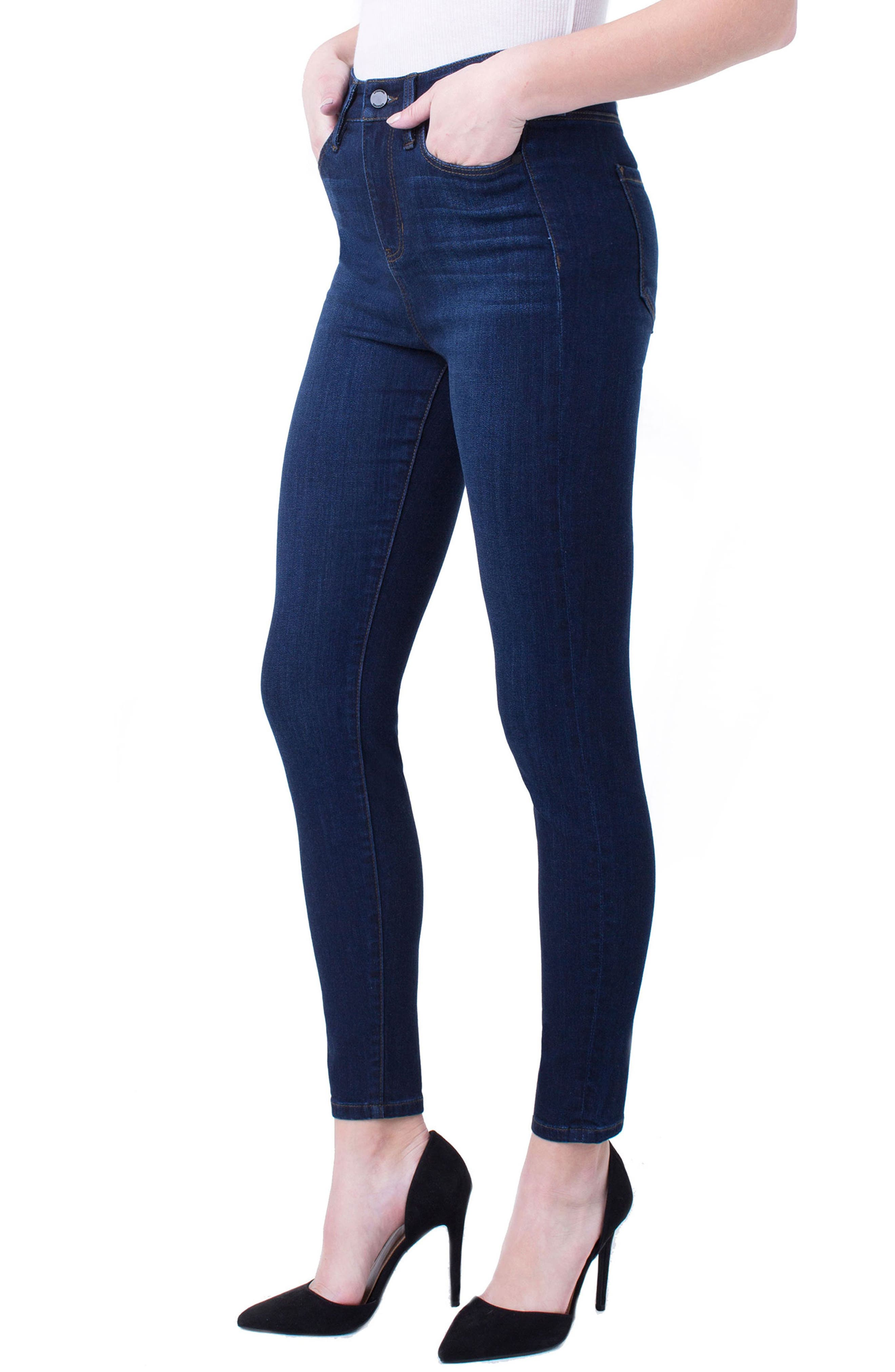Bridget High Waist Ankle Jeans,                             Main thumbnail 1, color,                             DOHENY DARK