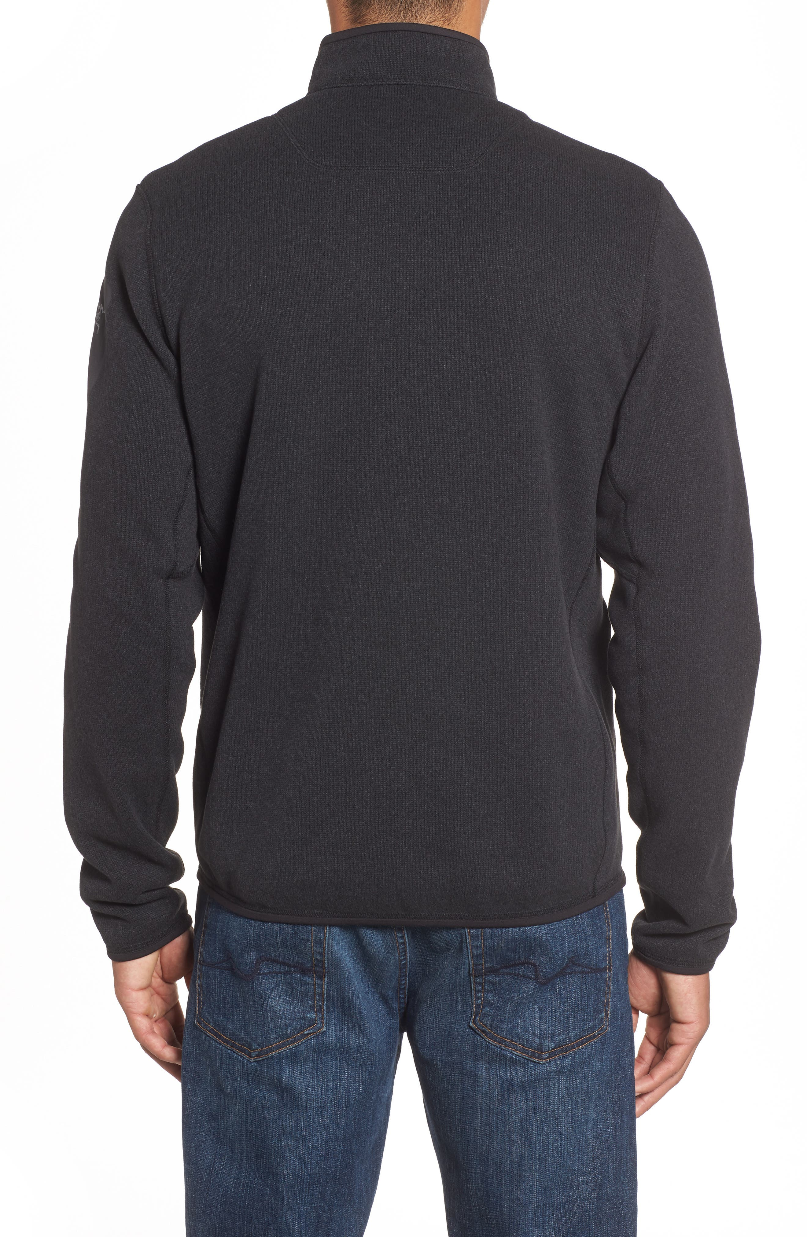 'Covert' Relaxed Fit Technical Fleece Zip Jacket,                             Alternate thumbnail 2, color,                             BLACK HEATHER