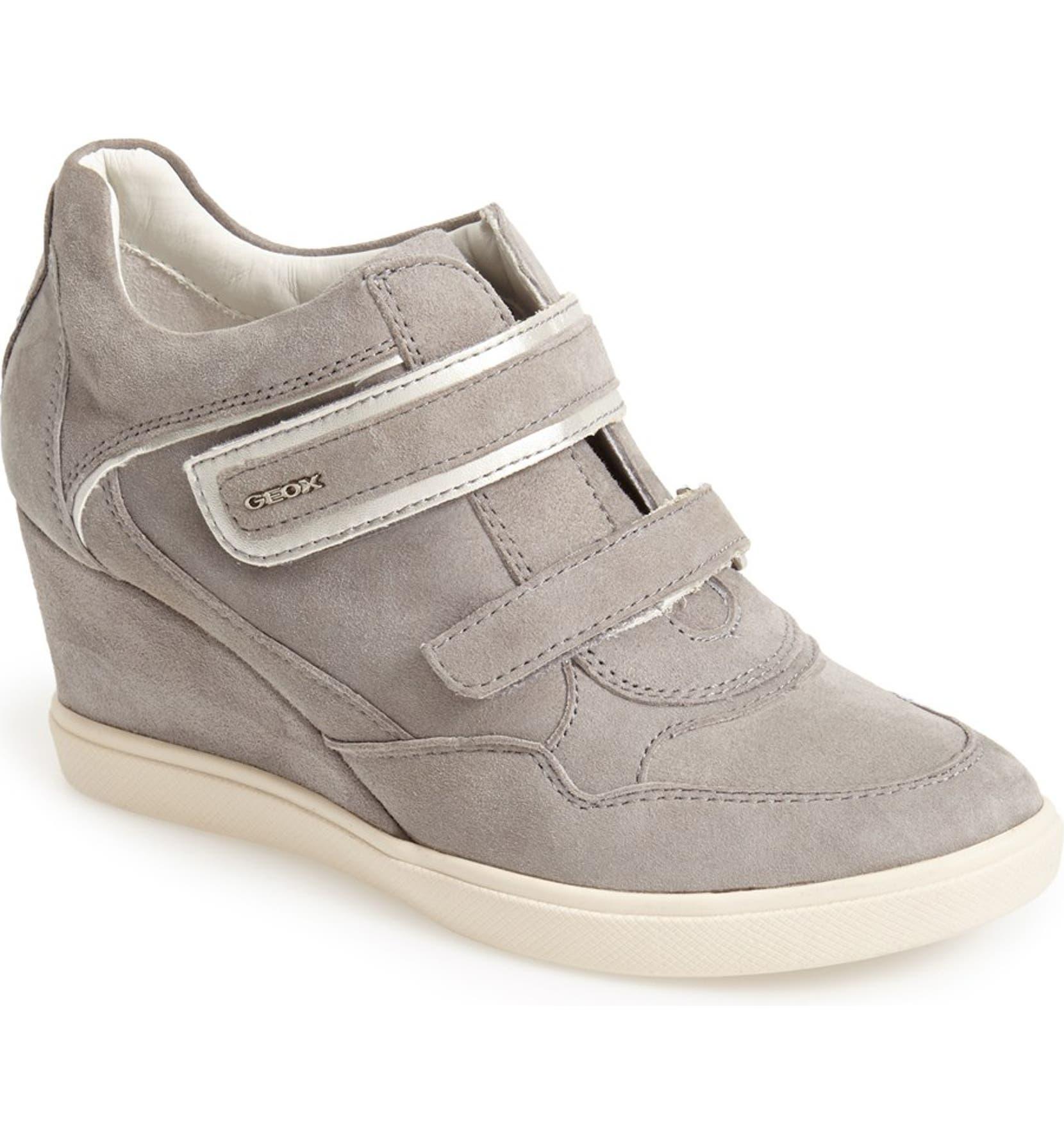 d43ce511c54 Geox  Eleni 11  Suede Wedge Sneaker (Women)