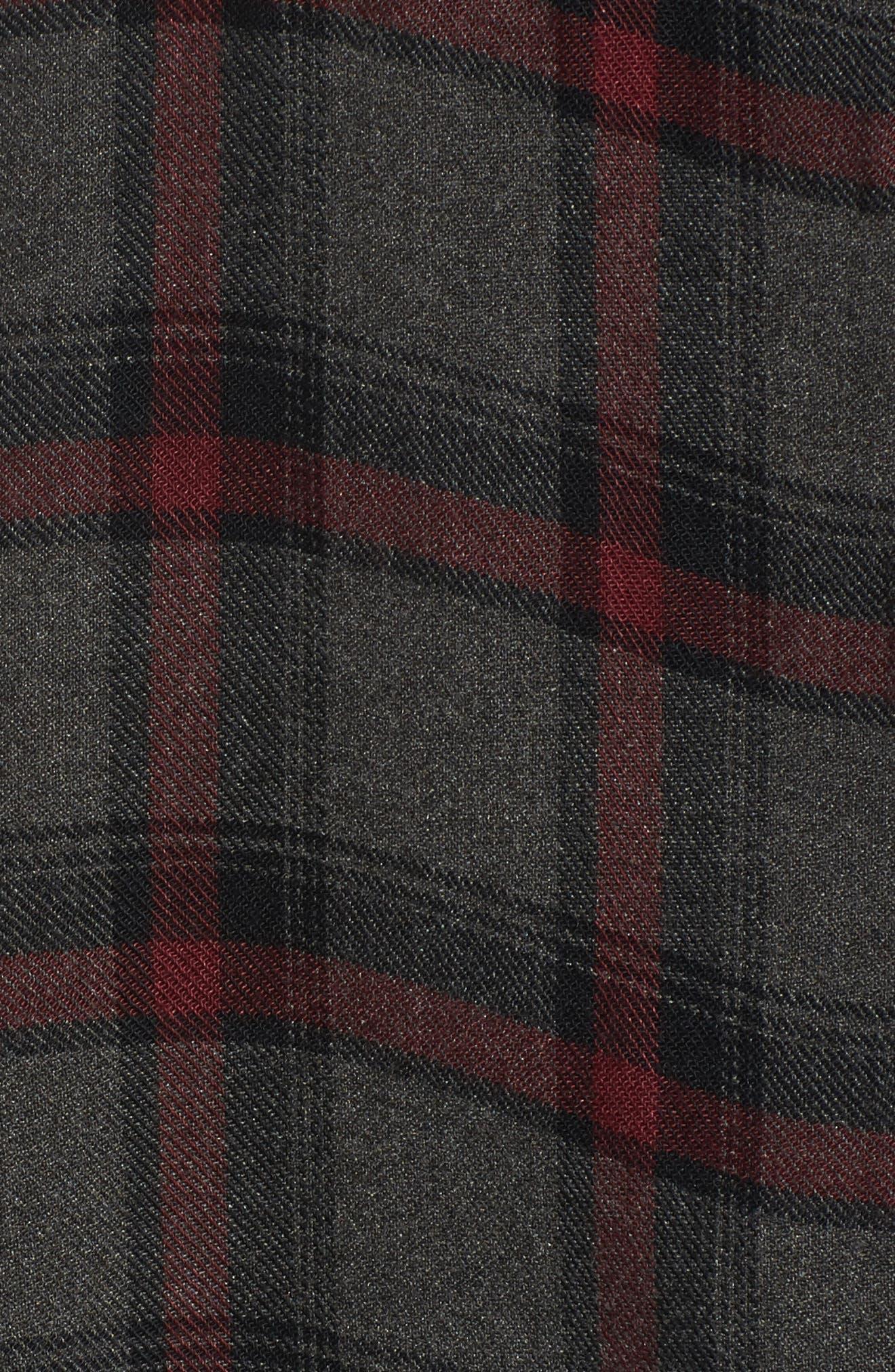 Flare Sleeve Plaid Shirt,                             Alternate thumbnail 5, color,                             030