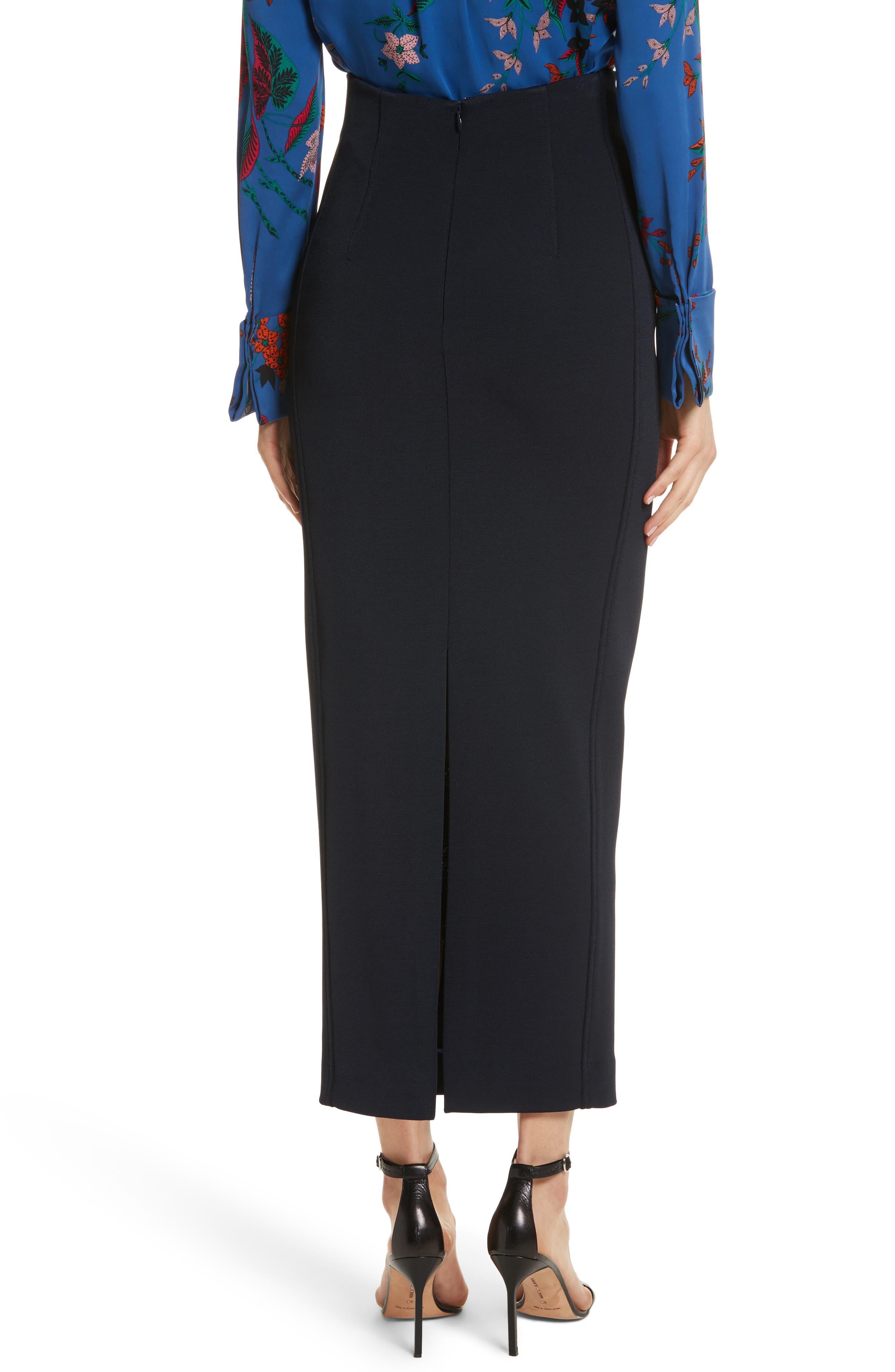 Diane von Furstenberg Fitted Midi Skirt,                             Alternate thumbnail 2, color,