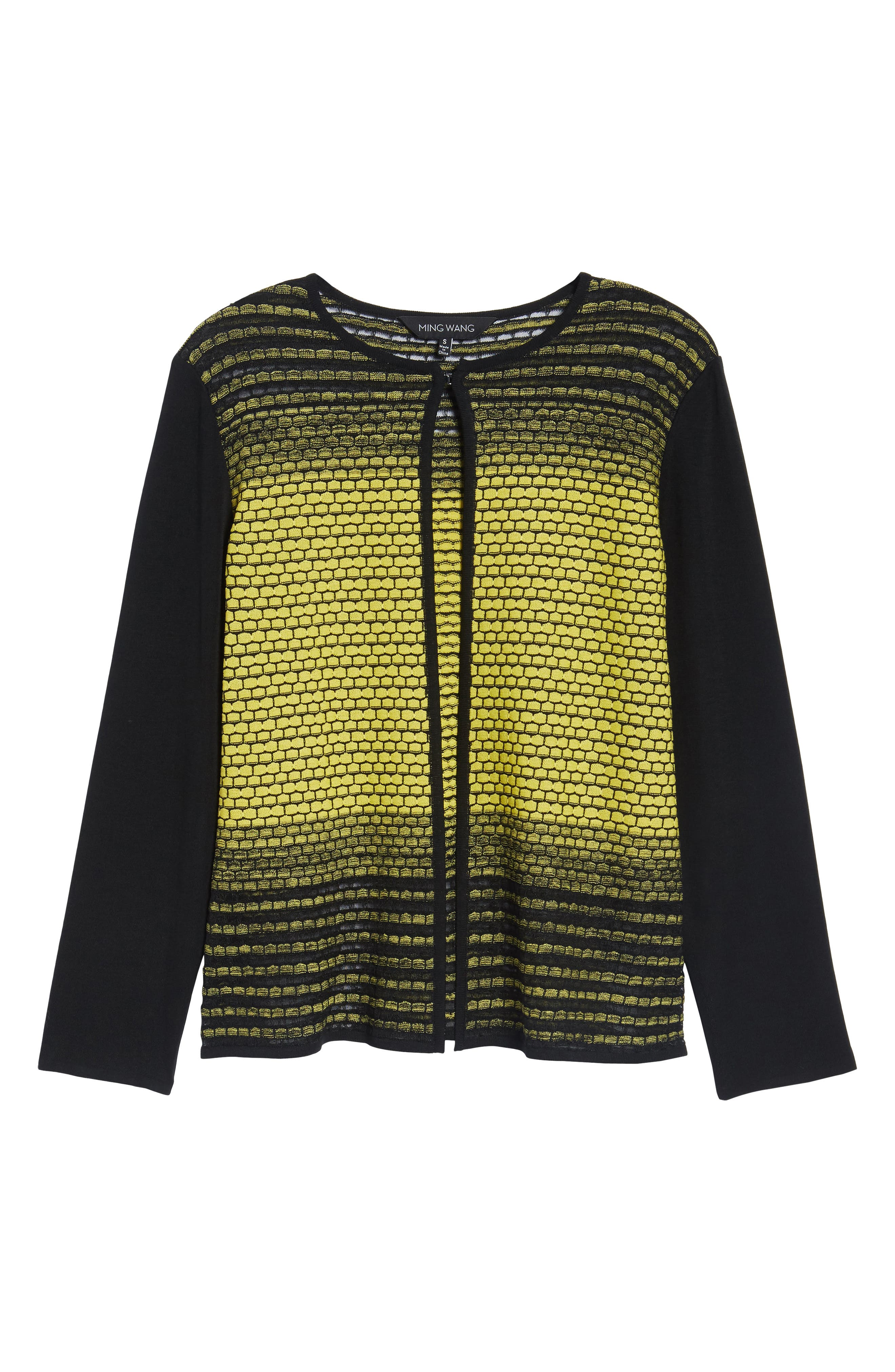 Colorblock Knit Jacket,                             Alternate thumbnail 5, color,