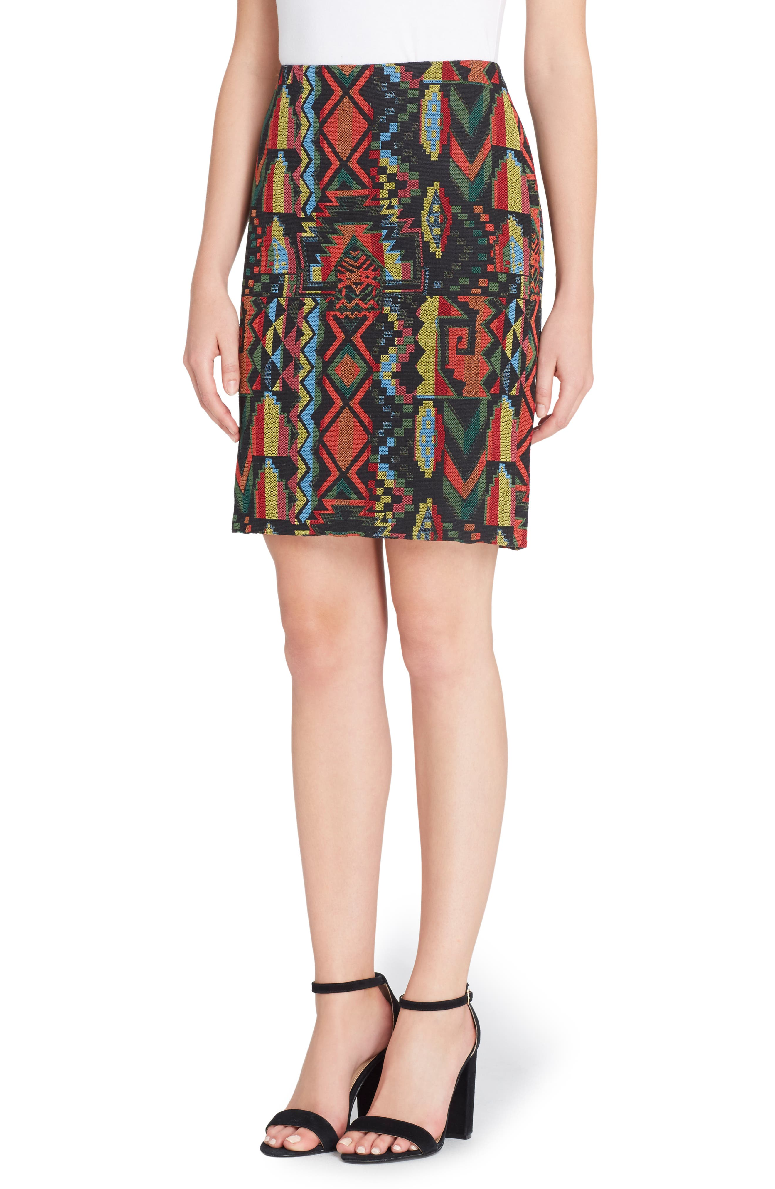 Emmett Geo Woven Skirt,                             Main thumbnail 1, color,                             002