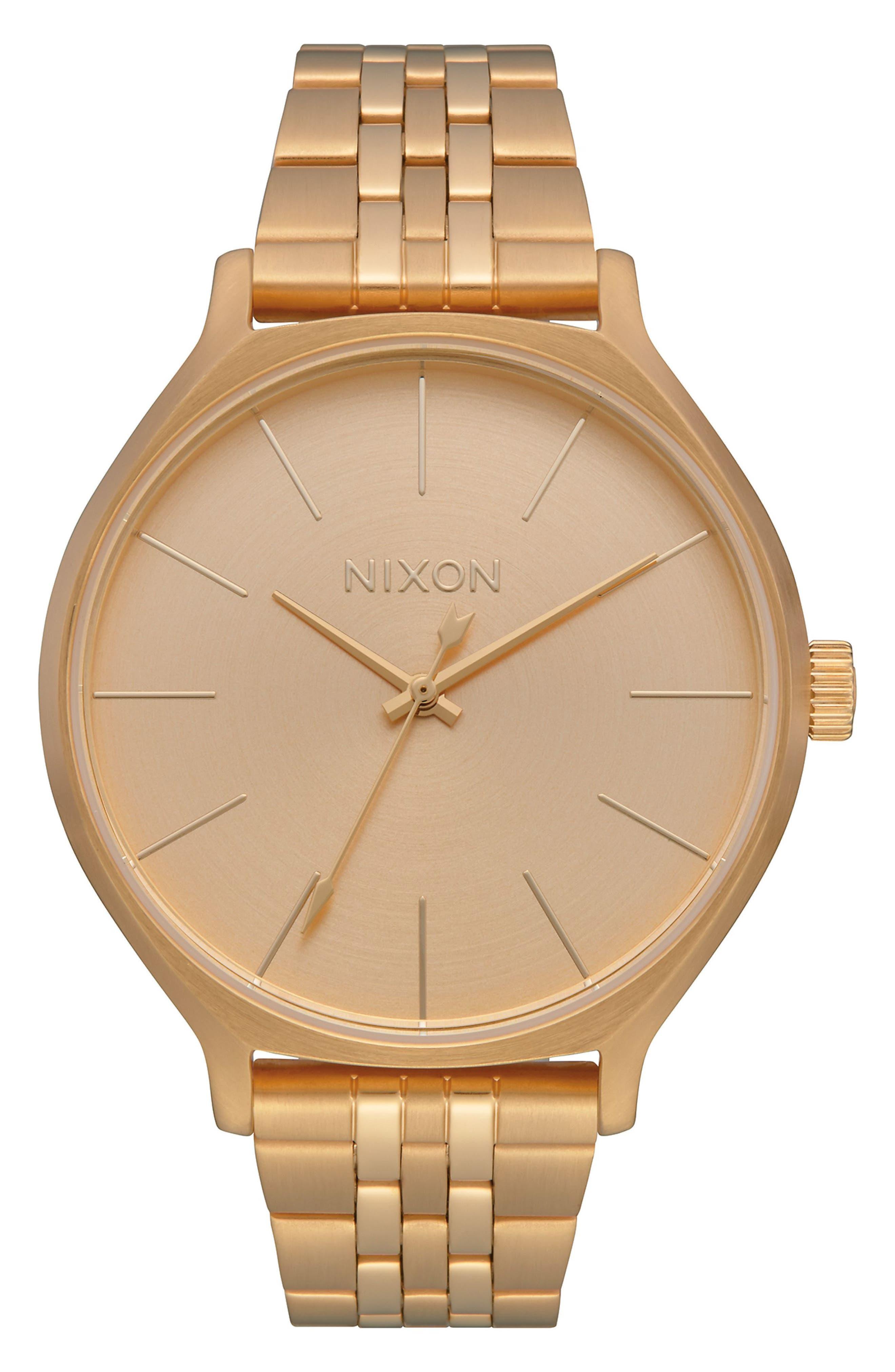 NIXON The Clique Bracelet Watch, 38Mm in Gold