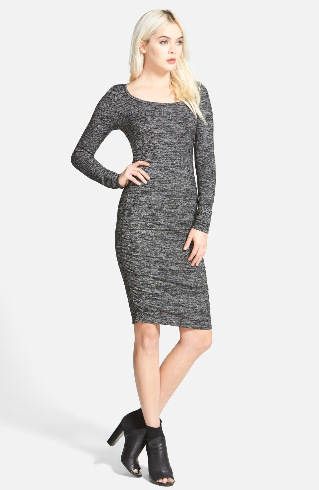 Ruched Body-Con Dress,                             Main thumbnail 1, color,                             021