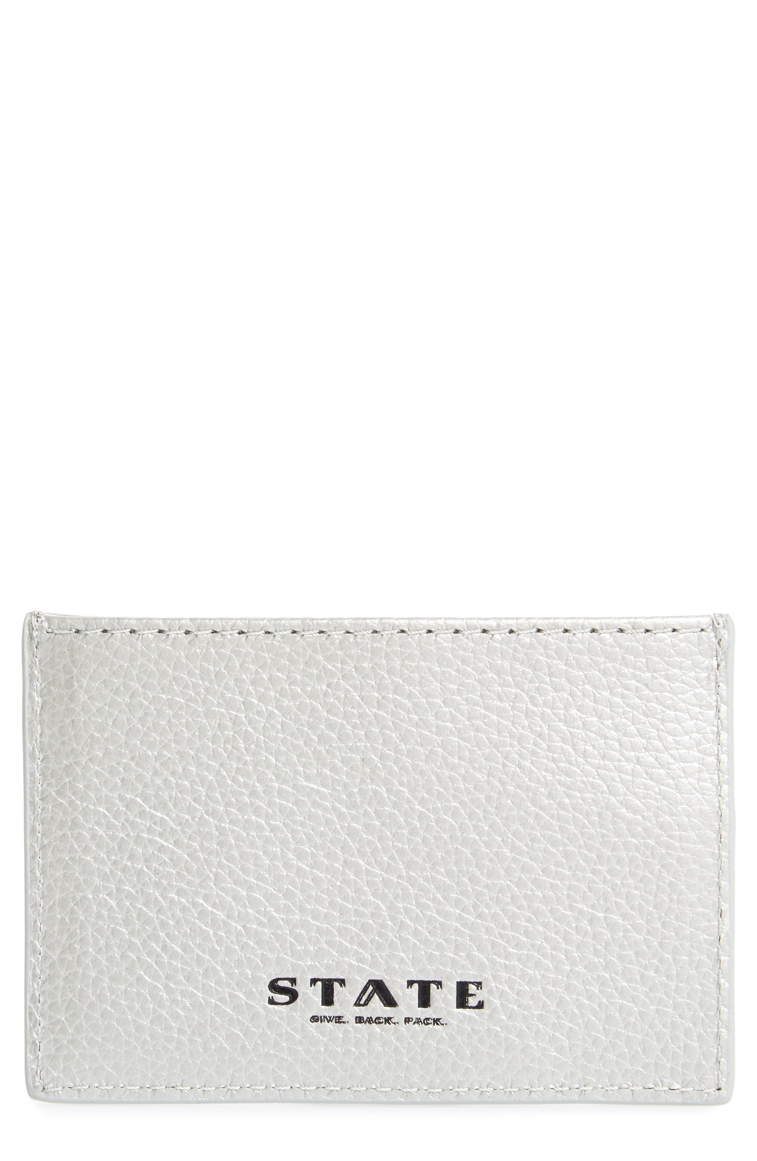 Greenwood Monaco Leather Card Case,                         Main,                         color, 040