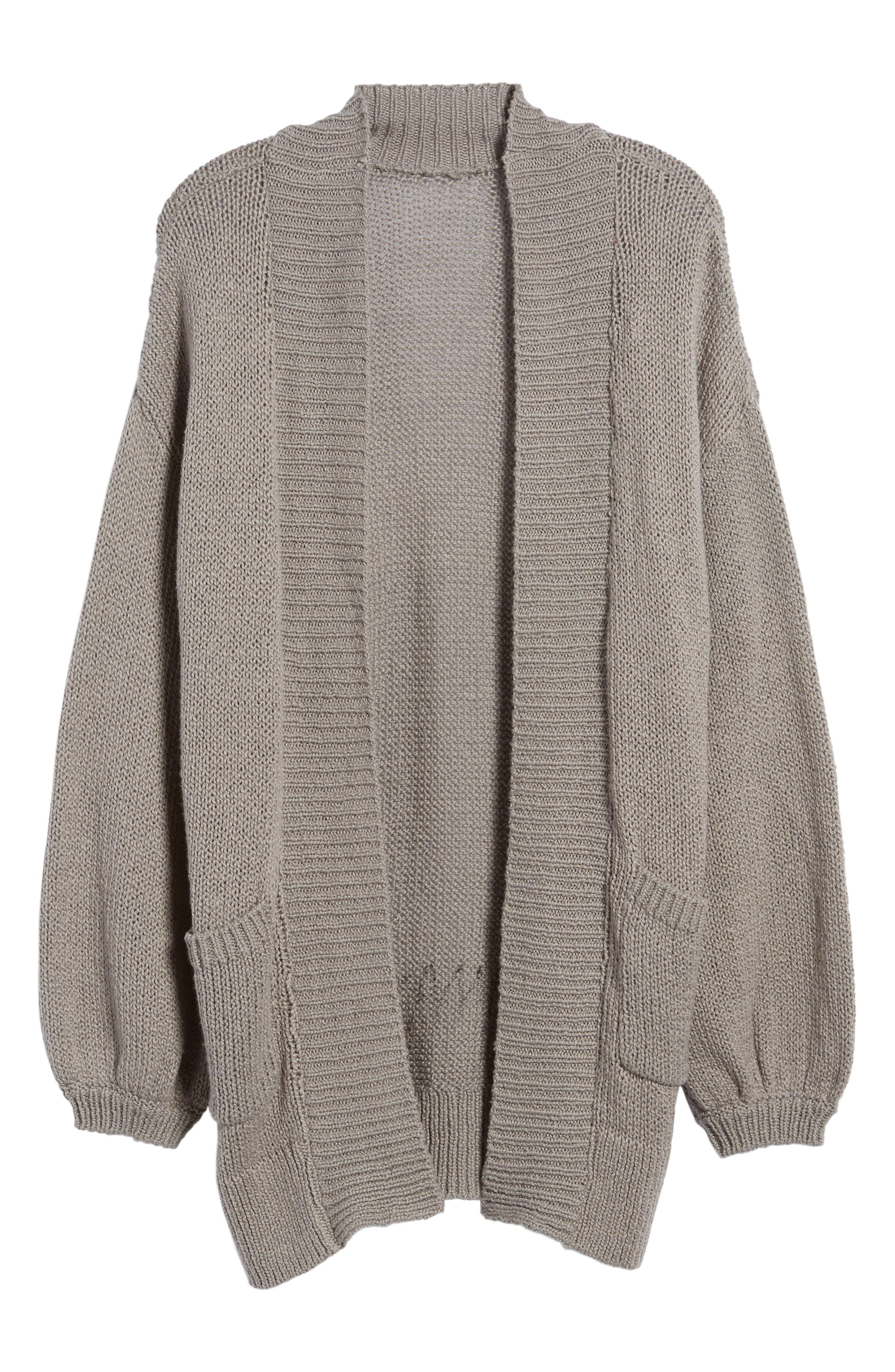 Blouson Sleeve Knit Cardigan,                             Alternate thumbnail 6, color,                             030