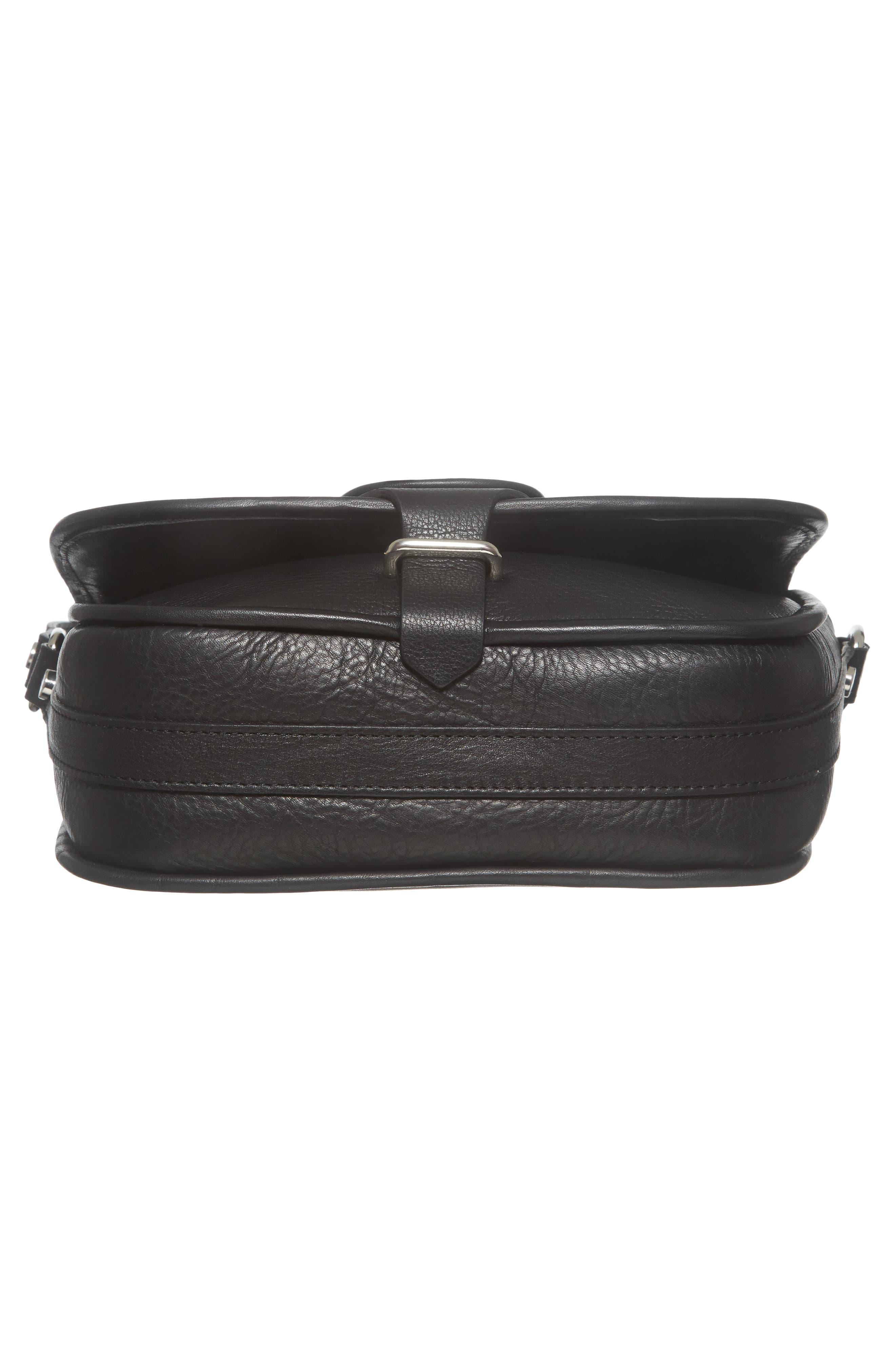 Premium Leather Studded Shoulder Bag,                             Alternate thumbnail 16, color,