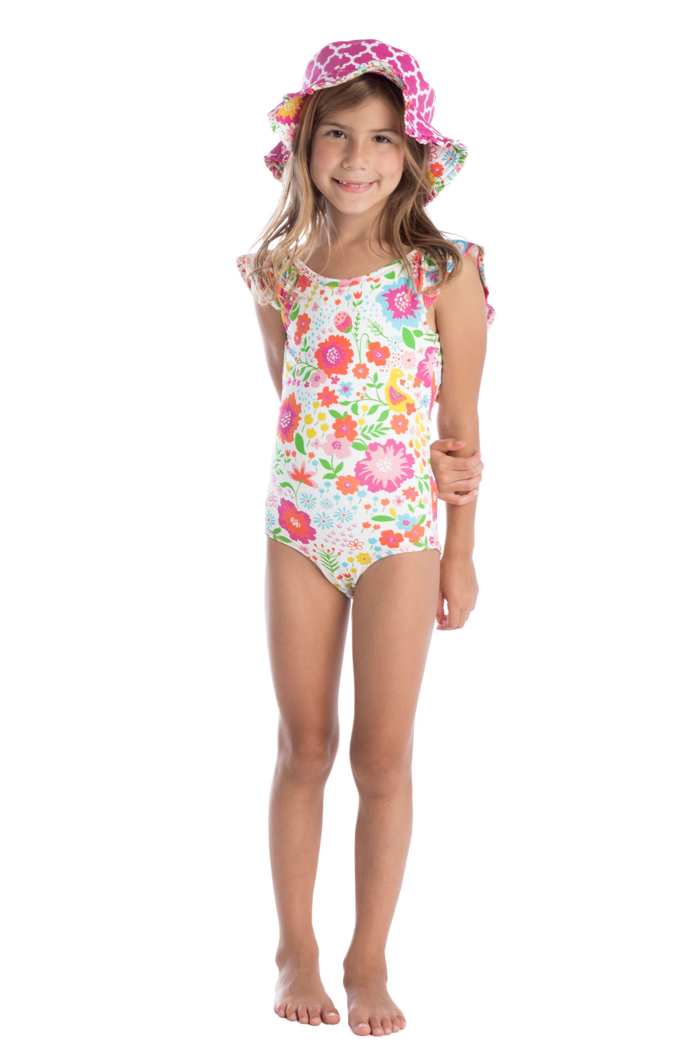 Flutter One-Piece Swimsuit,                             Alternate thumbnail 2, color,                             100