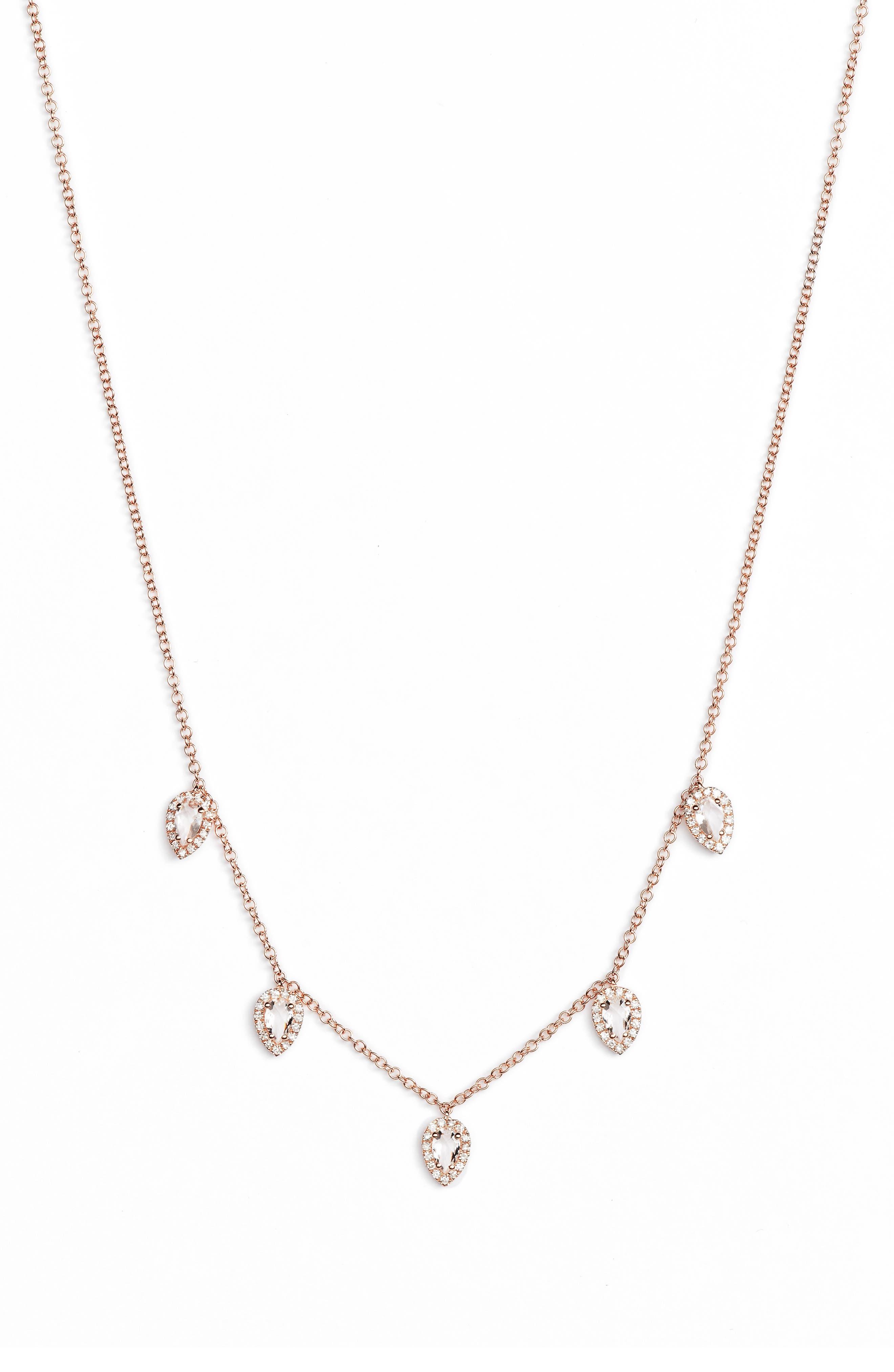 Diamond Collar Necklace,                         Main,                         color, 712