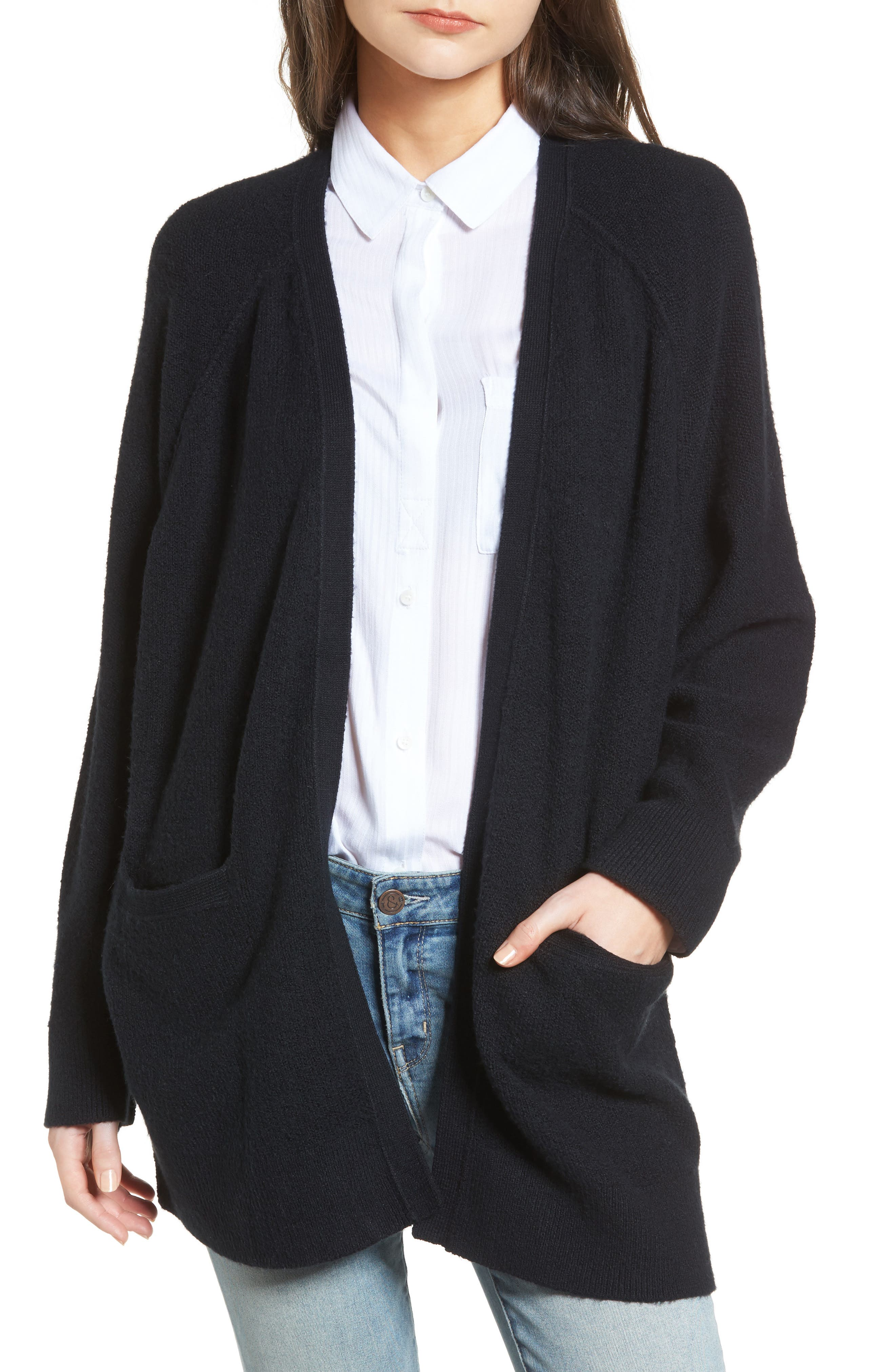Treasure&Bond 'Throw On' Cardigan,                         Main,                         color, 001