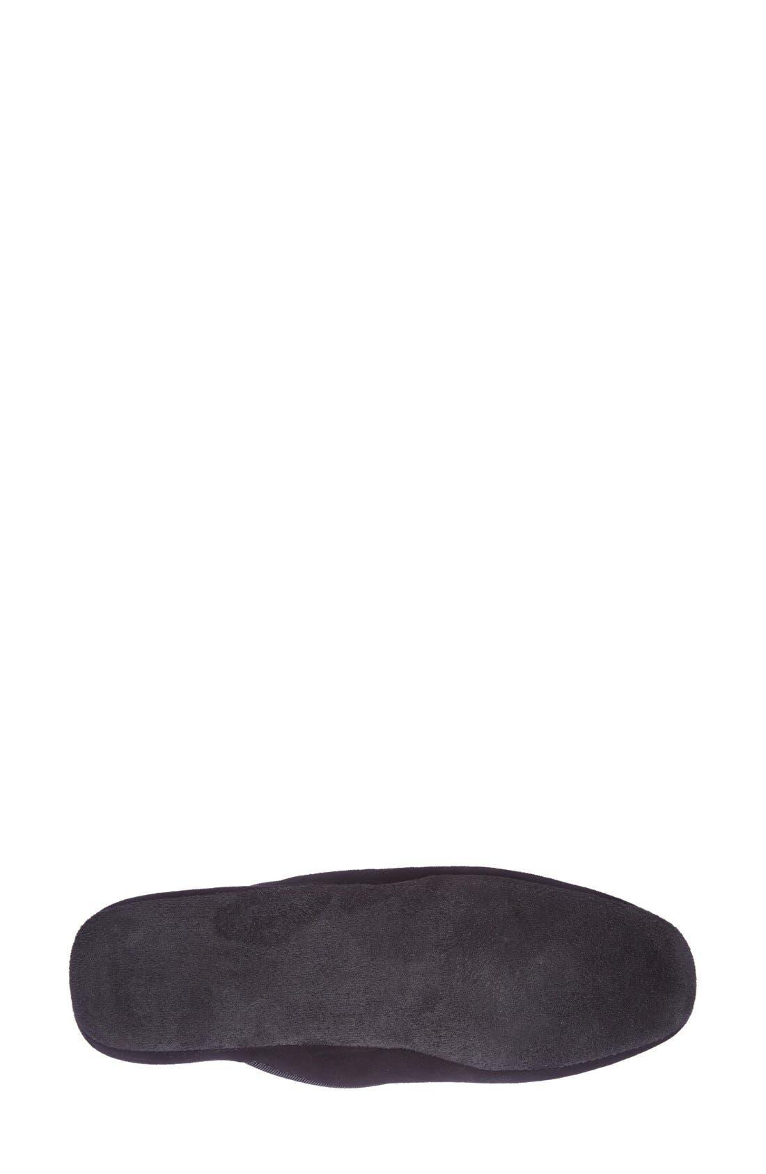 'Milano' Bit Embroidered Slipper,                             Alternate thumbnail 4, color,                             BLACK