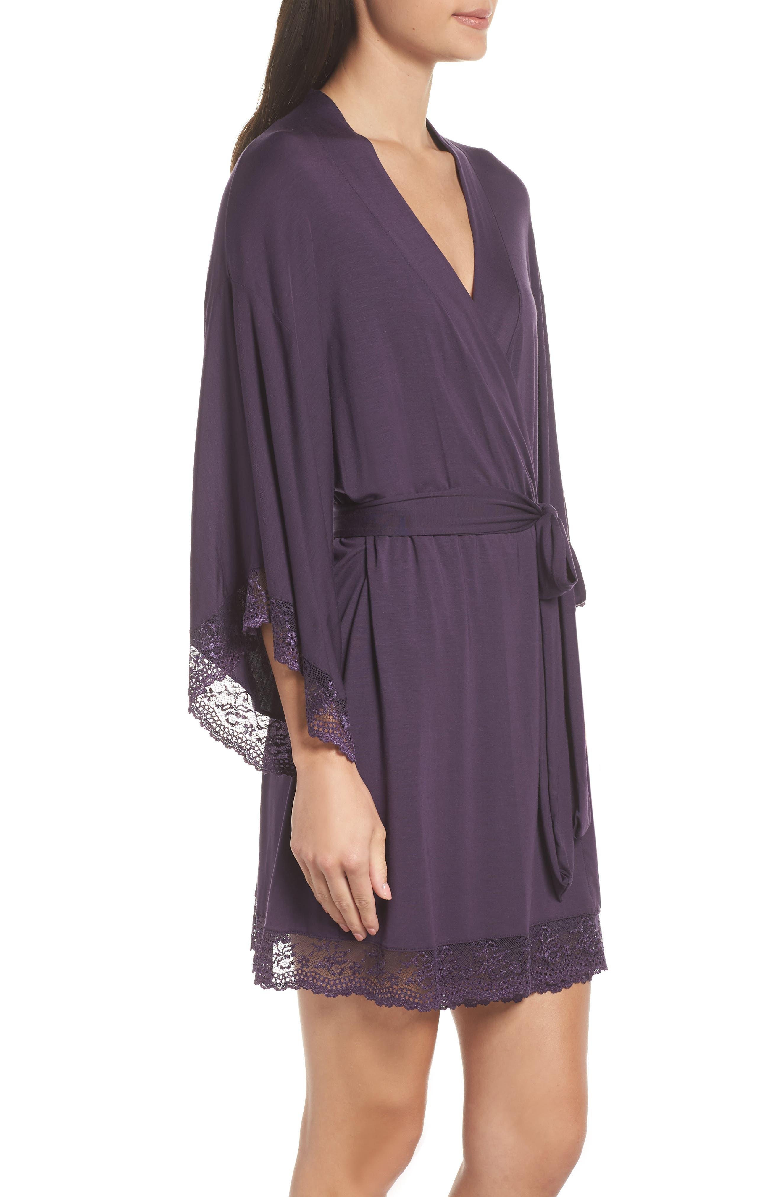 EBERJEY,                             'Colette' Kimono Robe,                             Alternate thumbnail 3, color,                             MYSTERIOSO