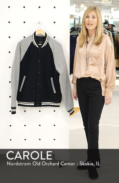 Letterman Wool Blend Jacket, sales video thumbnail